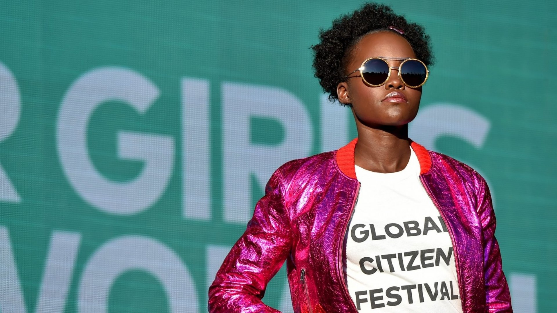 Lupita Nyong'o speaks at the 2017 Global Citizen Festival: For Freedom. For Justice. For All.