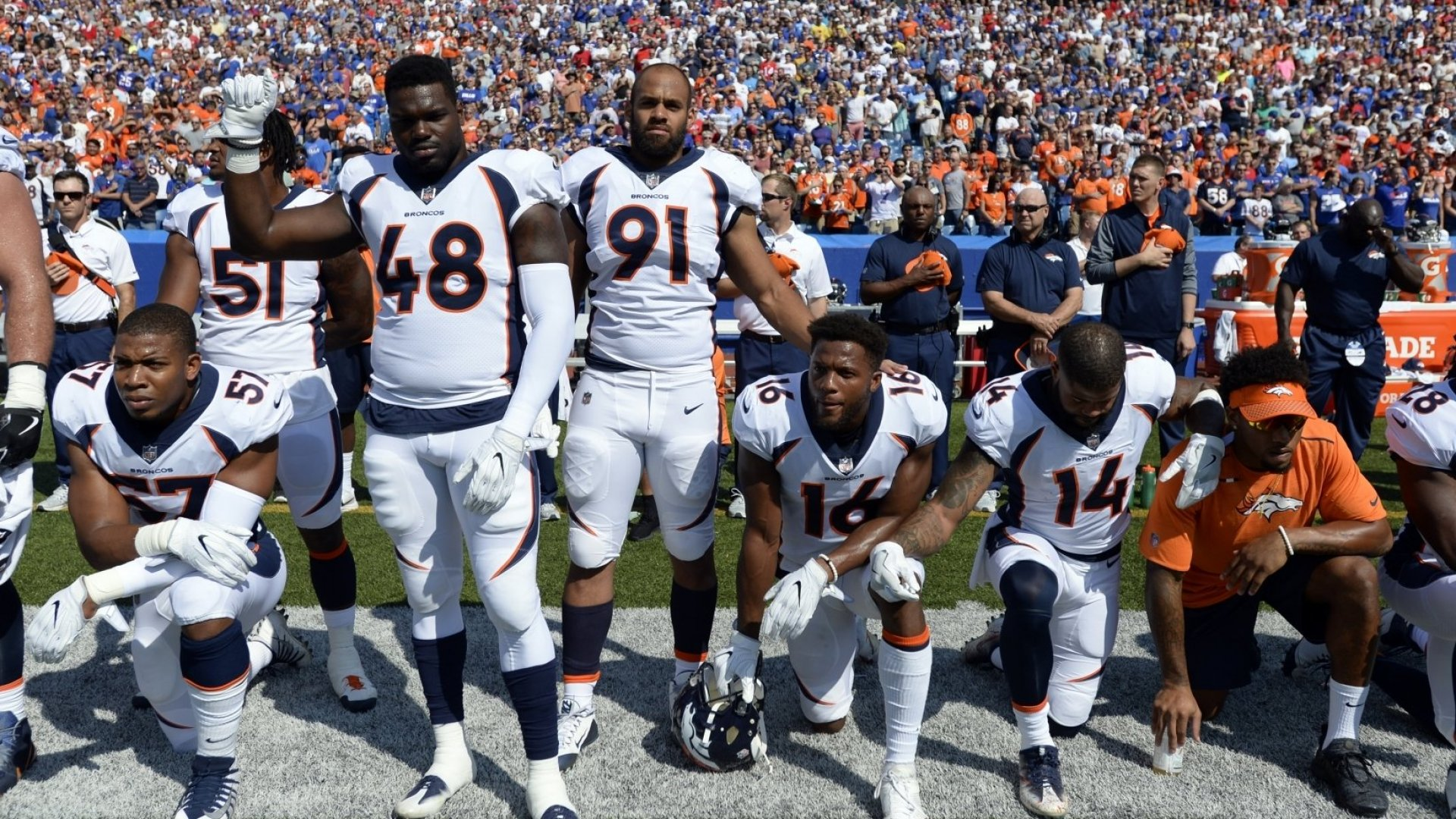 Can the NFL (or Nascar) Fire People Who Take a Knee During the National Anthem?
