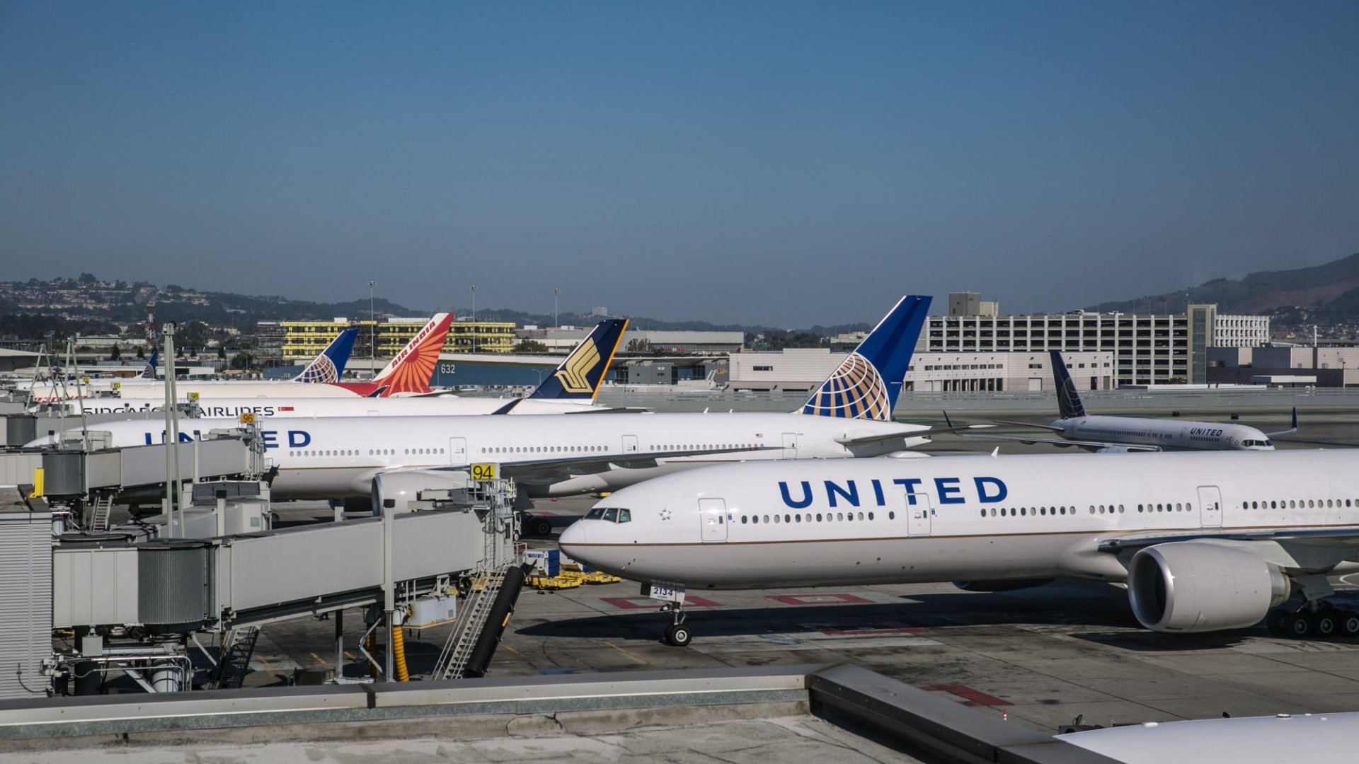 Bags don't fly free on United.