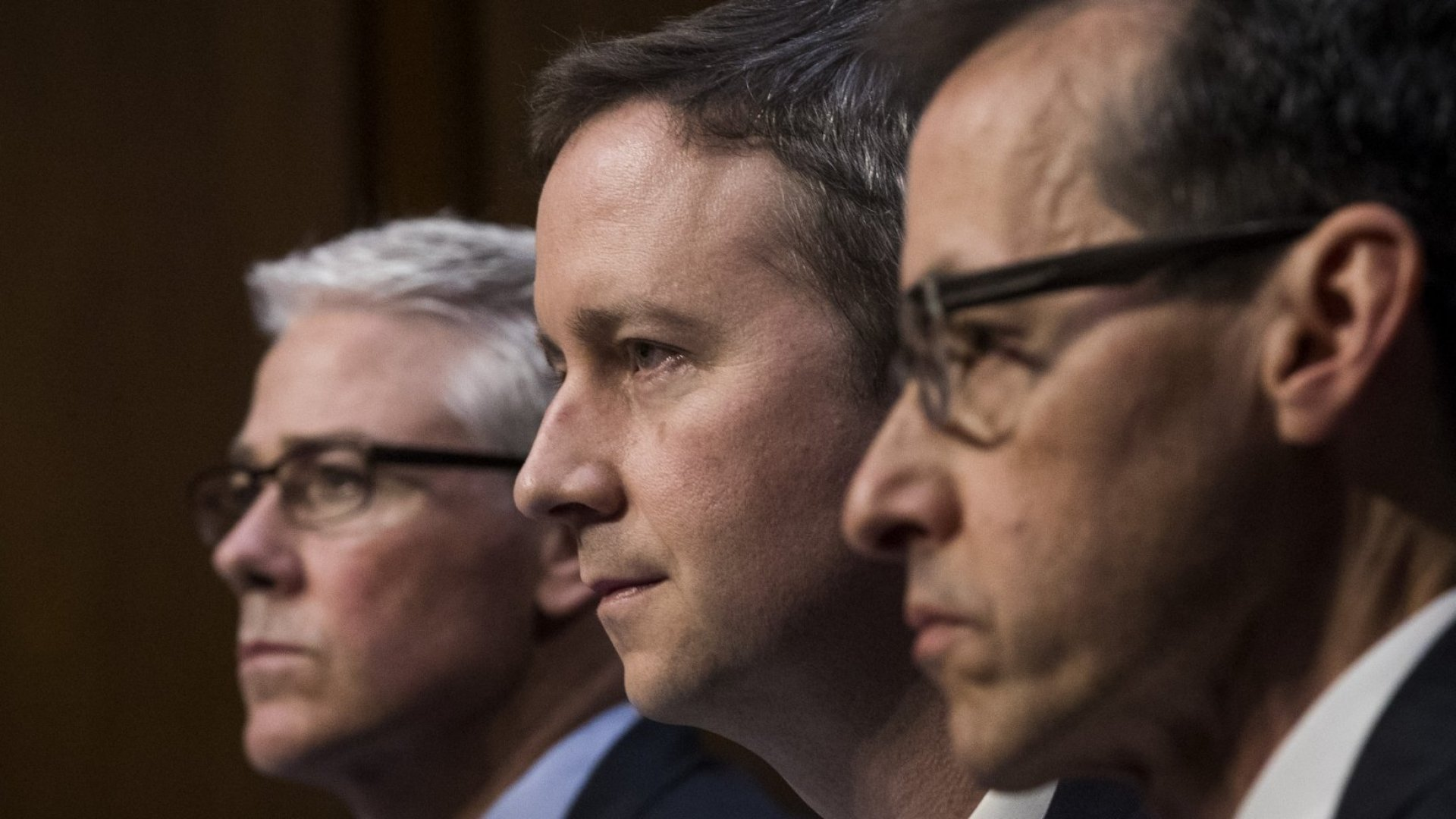 Executives from Facebook, Google, and Twitter appear before Congress