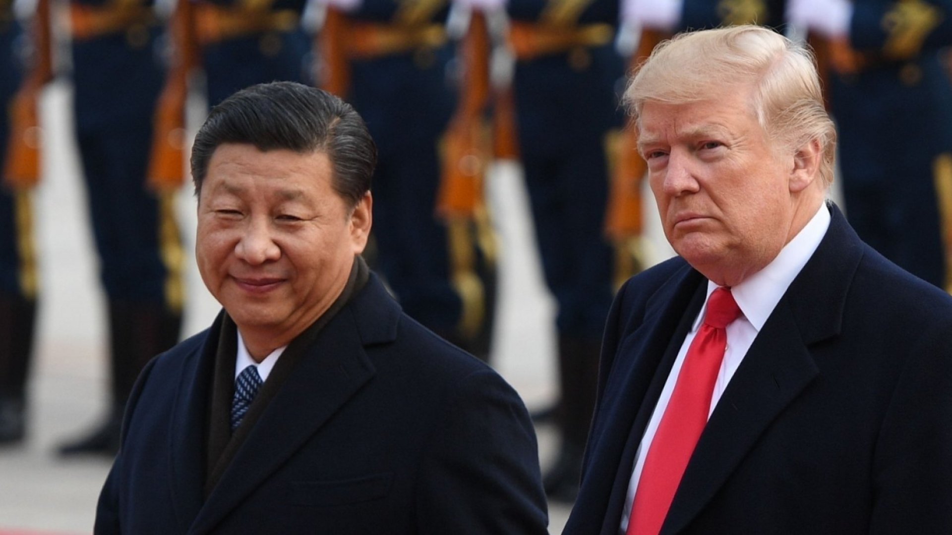 U.S. president Donald Trump with Chinese president Xi Jinping