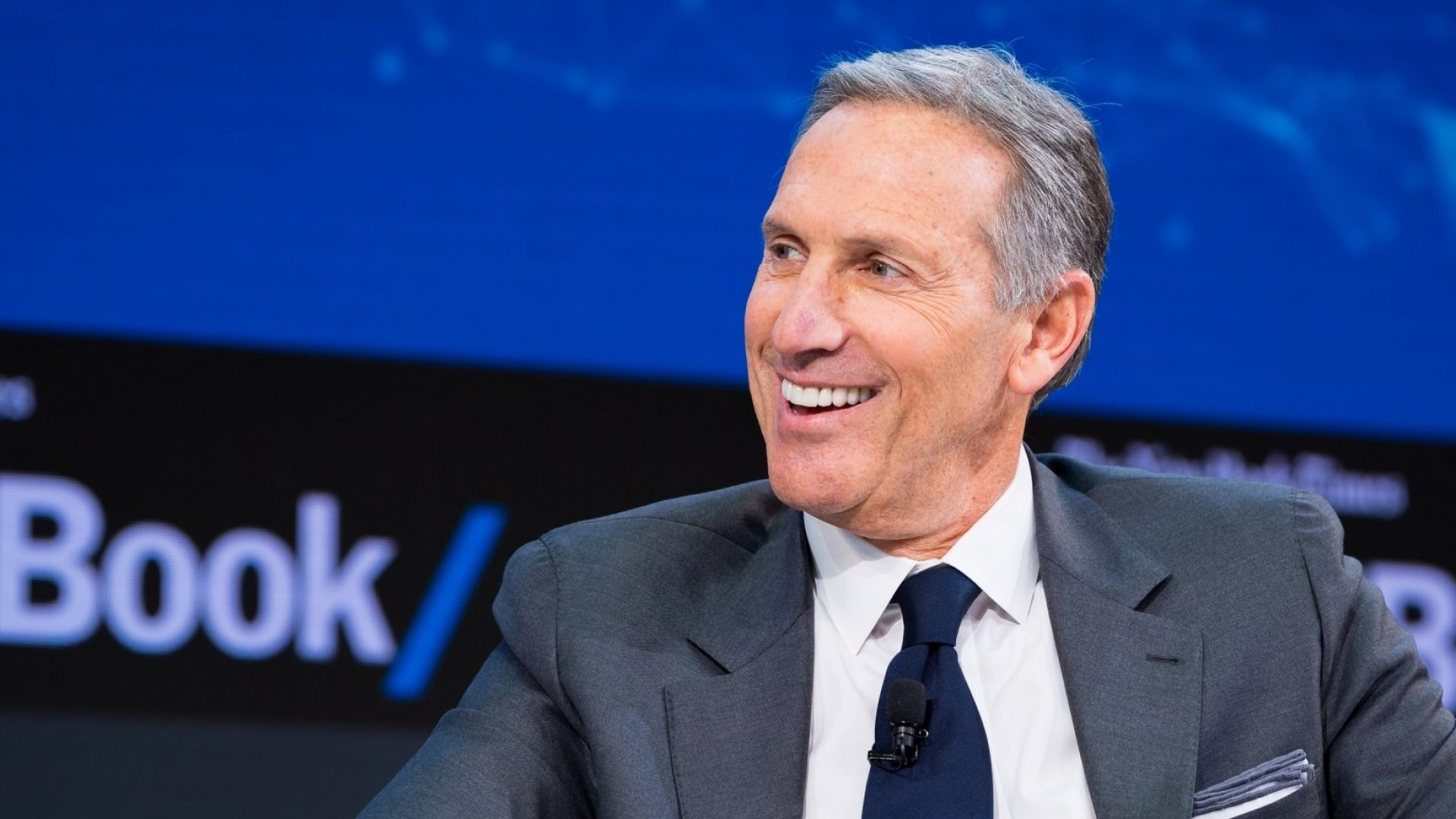 Howard Schultz speaks onstage at <em>The New York Times'</em>2017 DealBook Conference at Jazz at Lincoln Center on November 9, 2017, in New York City.