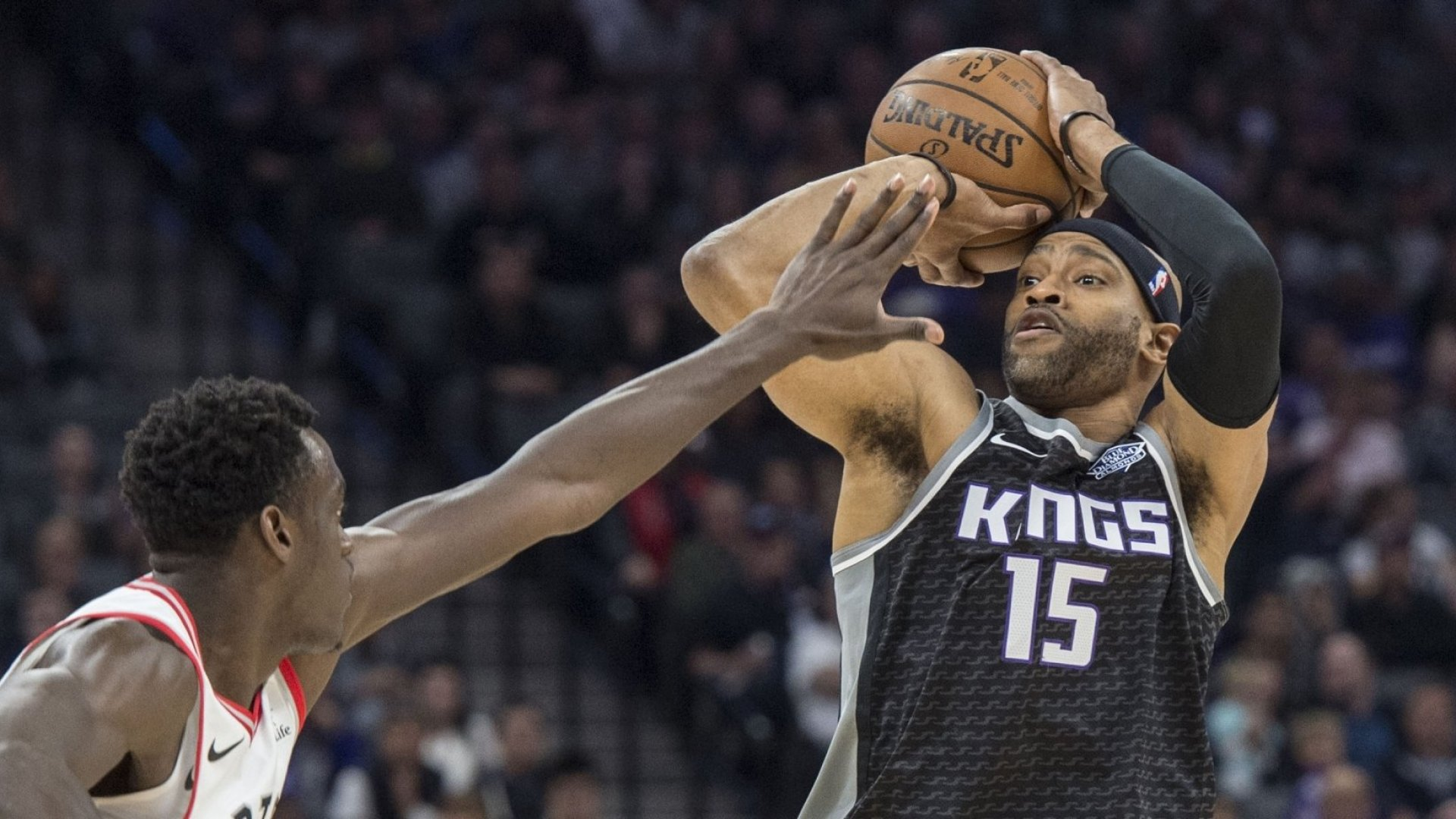 Sacramento Kings guard Vince Carter in a December game against the Toronto Raptors.