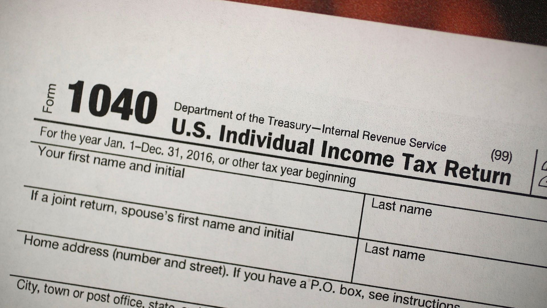 The Tax Law's New 1040 Form Is Here. It's About to Make Your Life a Lot More Difficult