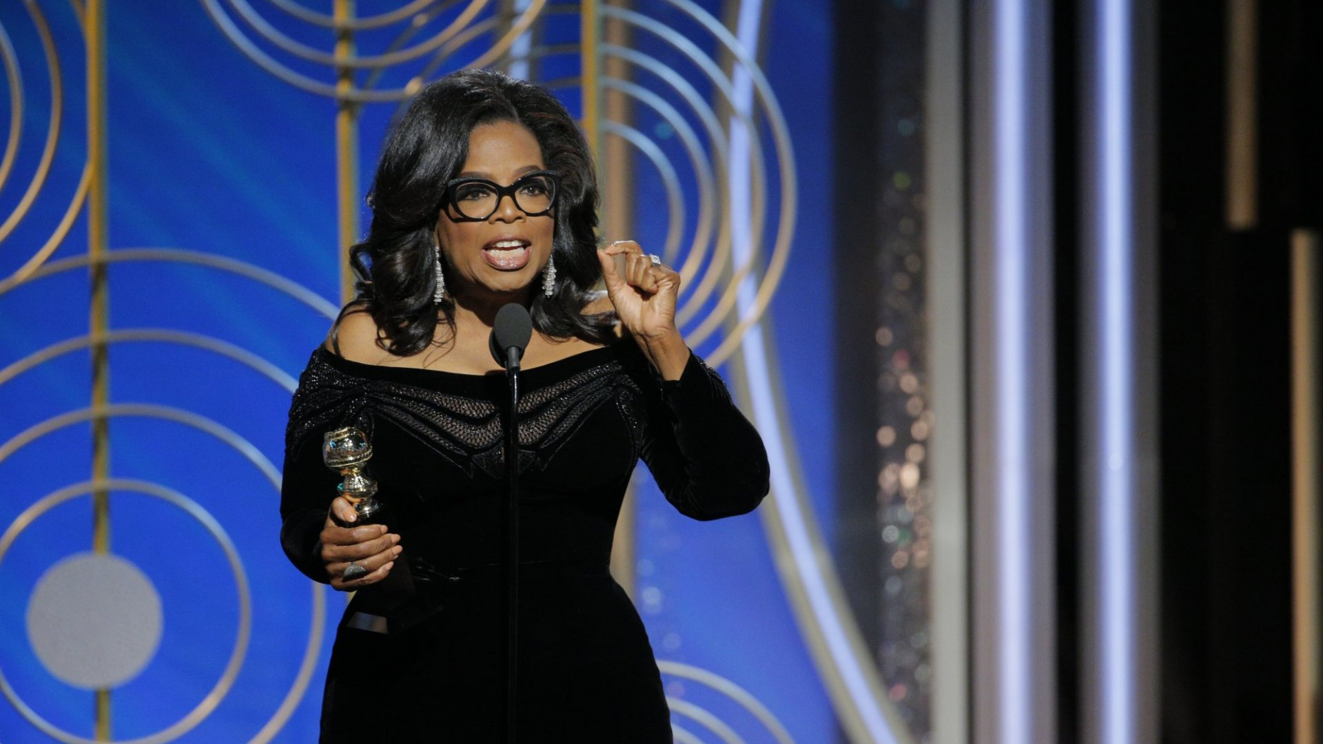 Her powerful use of storytelling made Oprah's message shine.