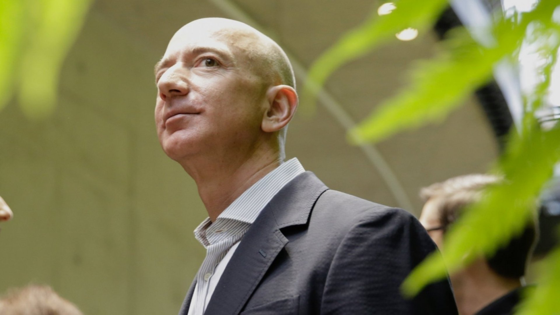 Chief Executive Officer of Amazon, Jeff Bezos, tours the facility at the grand opening of the Amazon Spheres, in Seattle, Washington on January 29, 2018.  Amazon opened its new Seattle office space which looks more like a rainforest. The company created the Spheres Complex to help spark employee creativity.