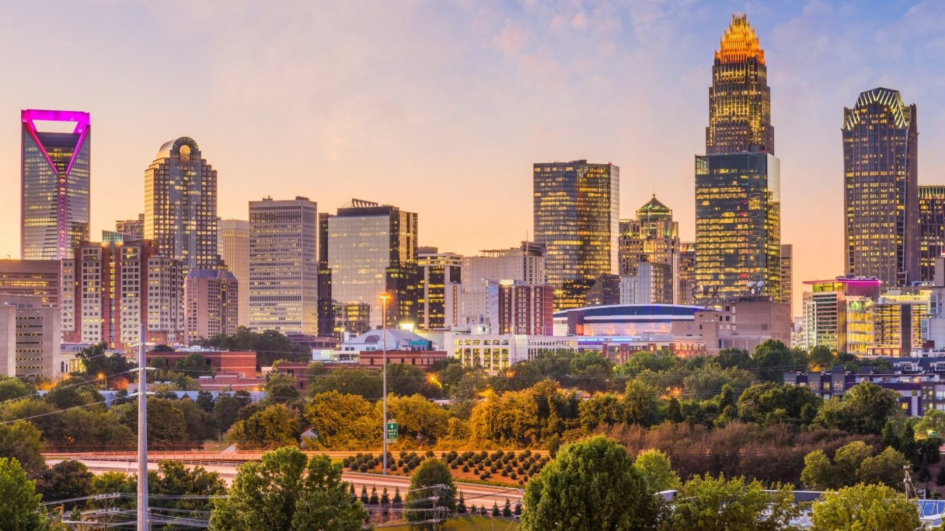 Downtown Charlotte, North Carolina.