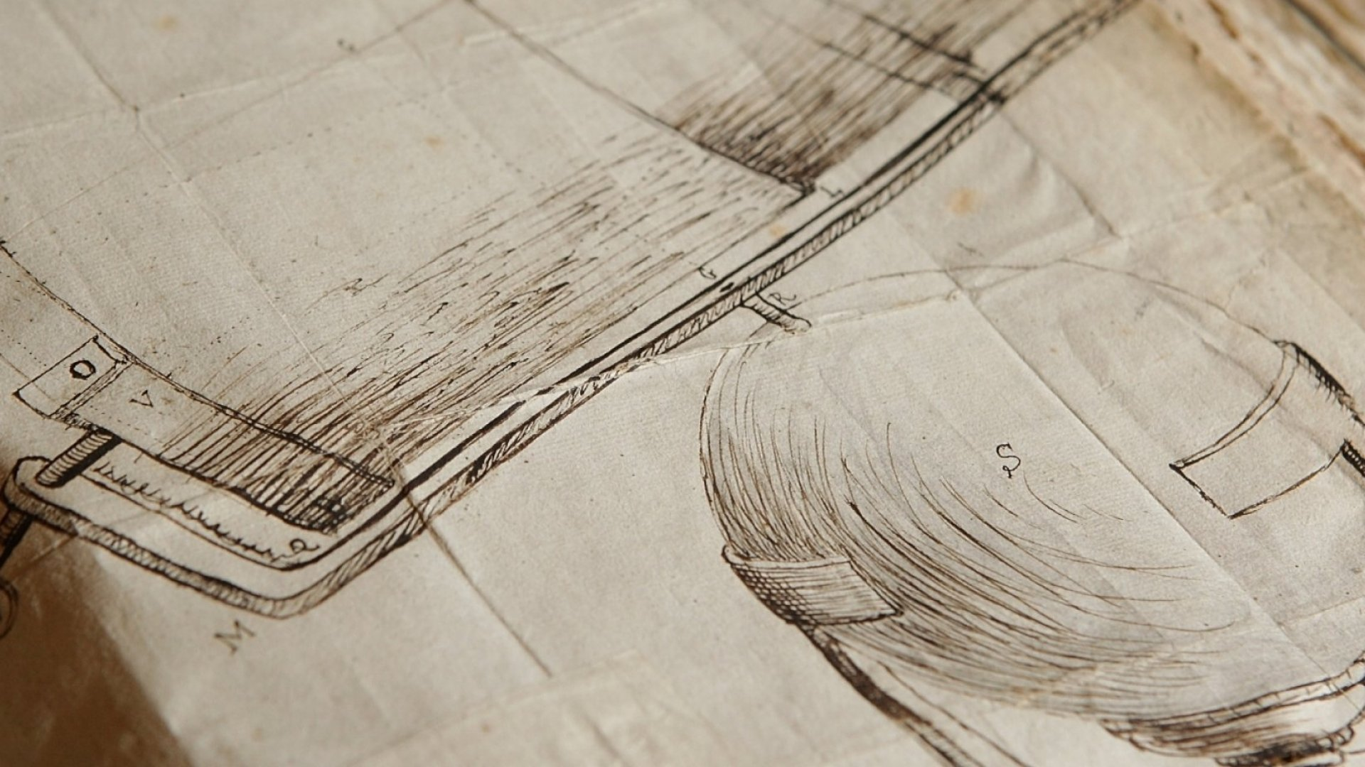 A drawing by Isaac Newton of his telescope.