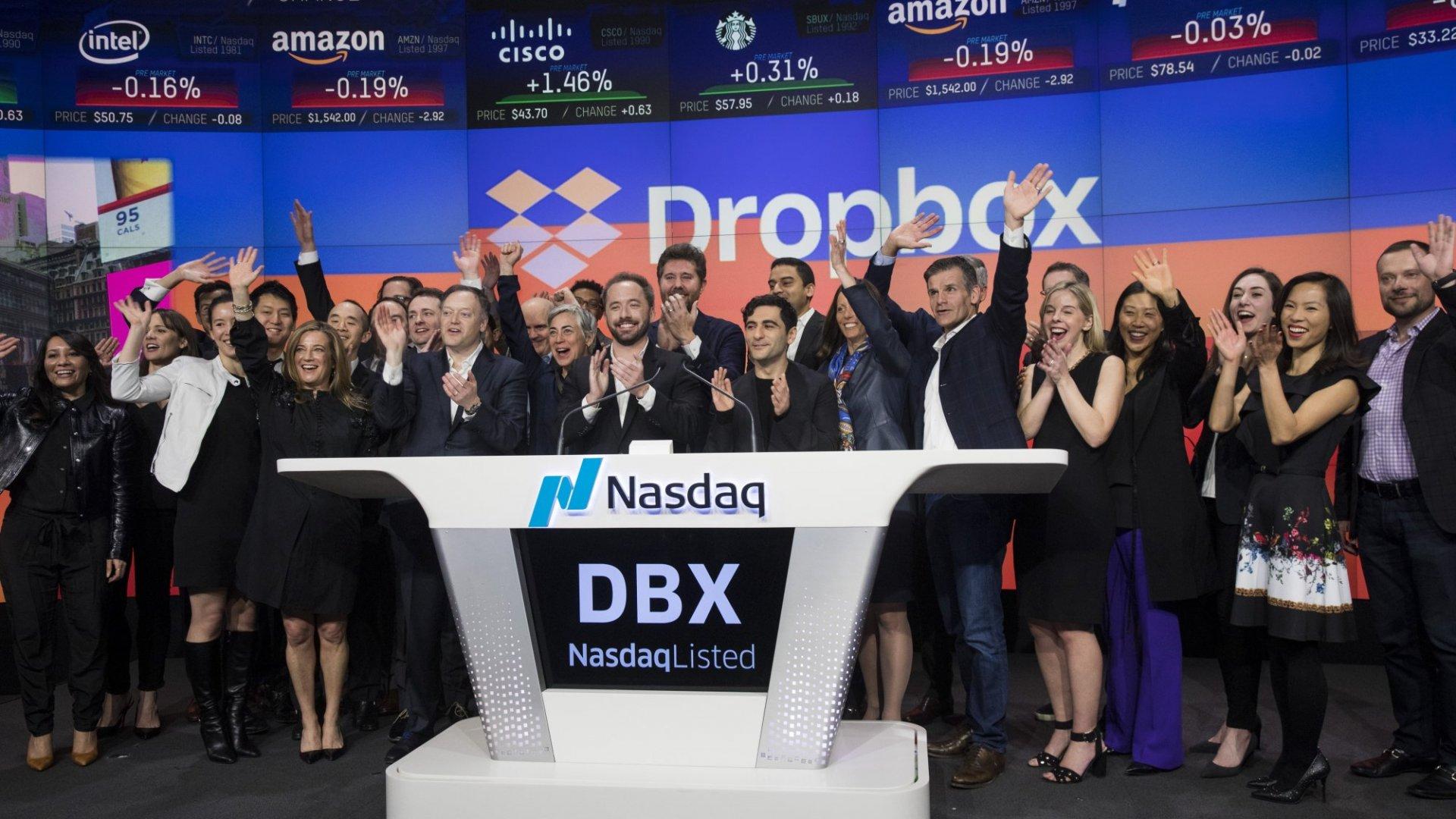 Dropbox's IPO Debuts at $29 a Share