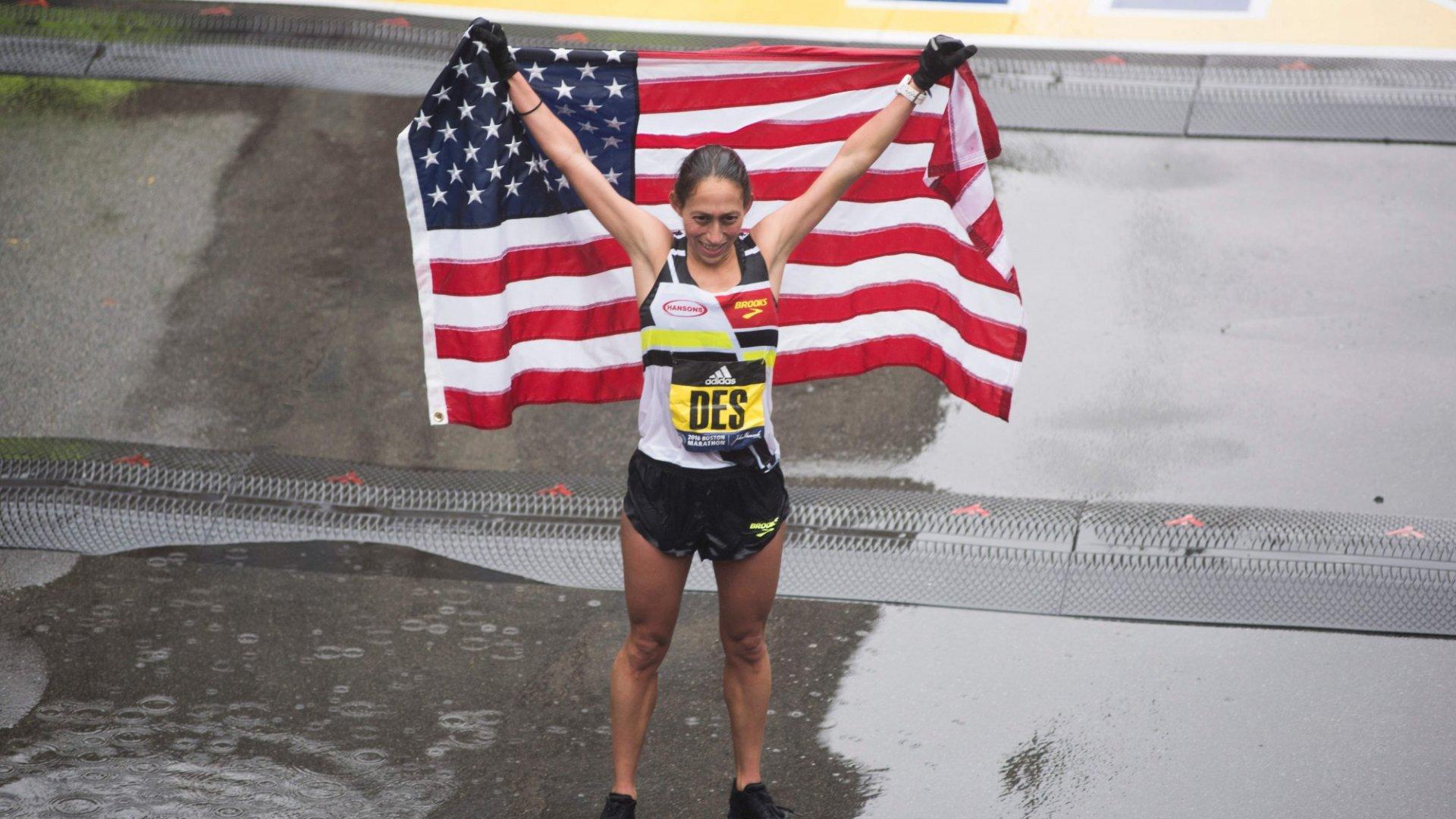 The 3 Simple Words ThatHelped Push Des Linden to Win the Boston Marathon
