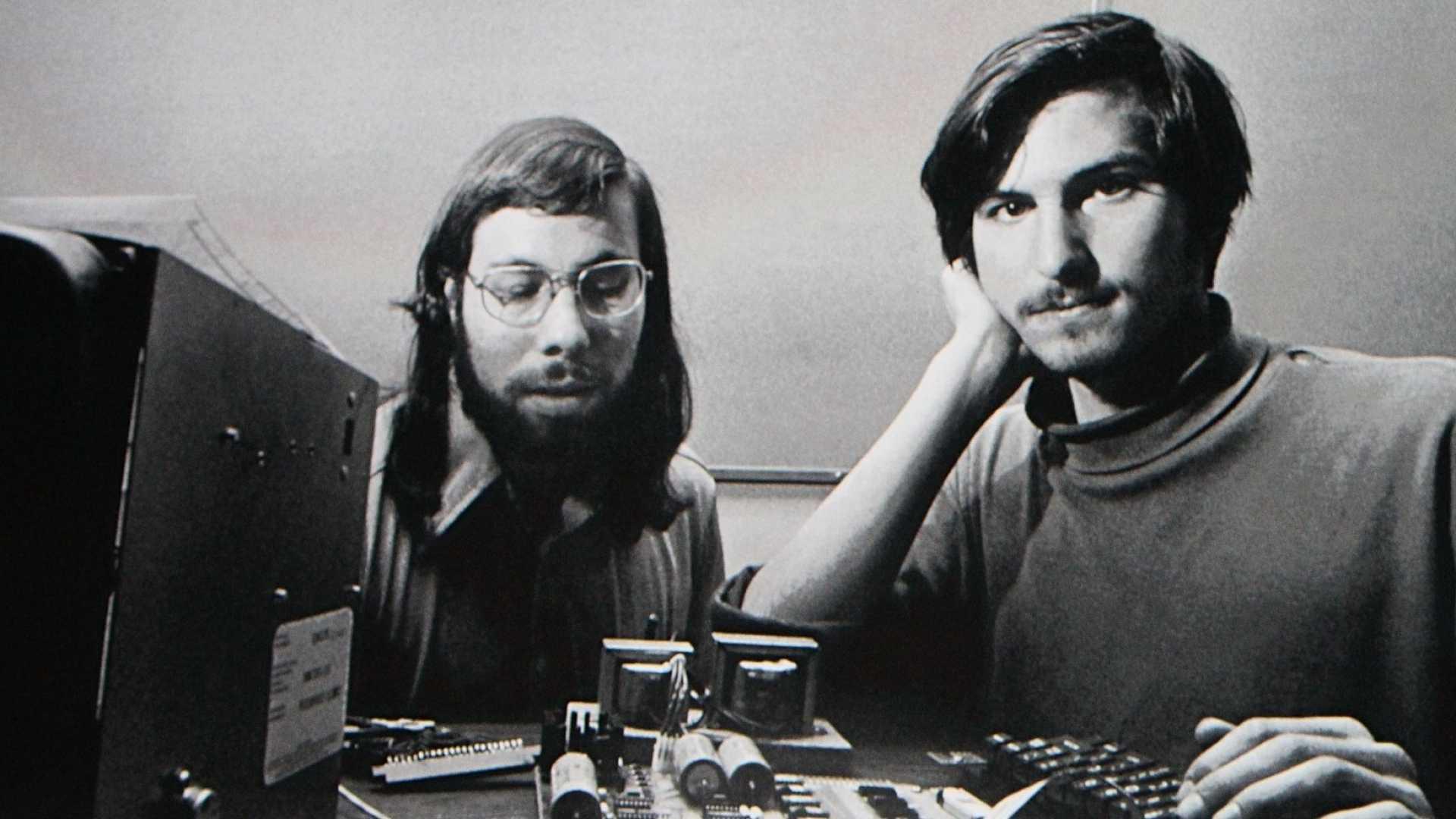 Steve Wozniak and Steve Jobs.