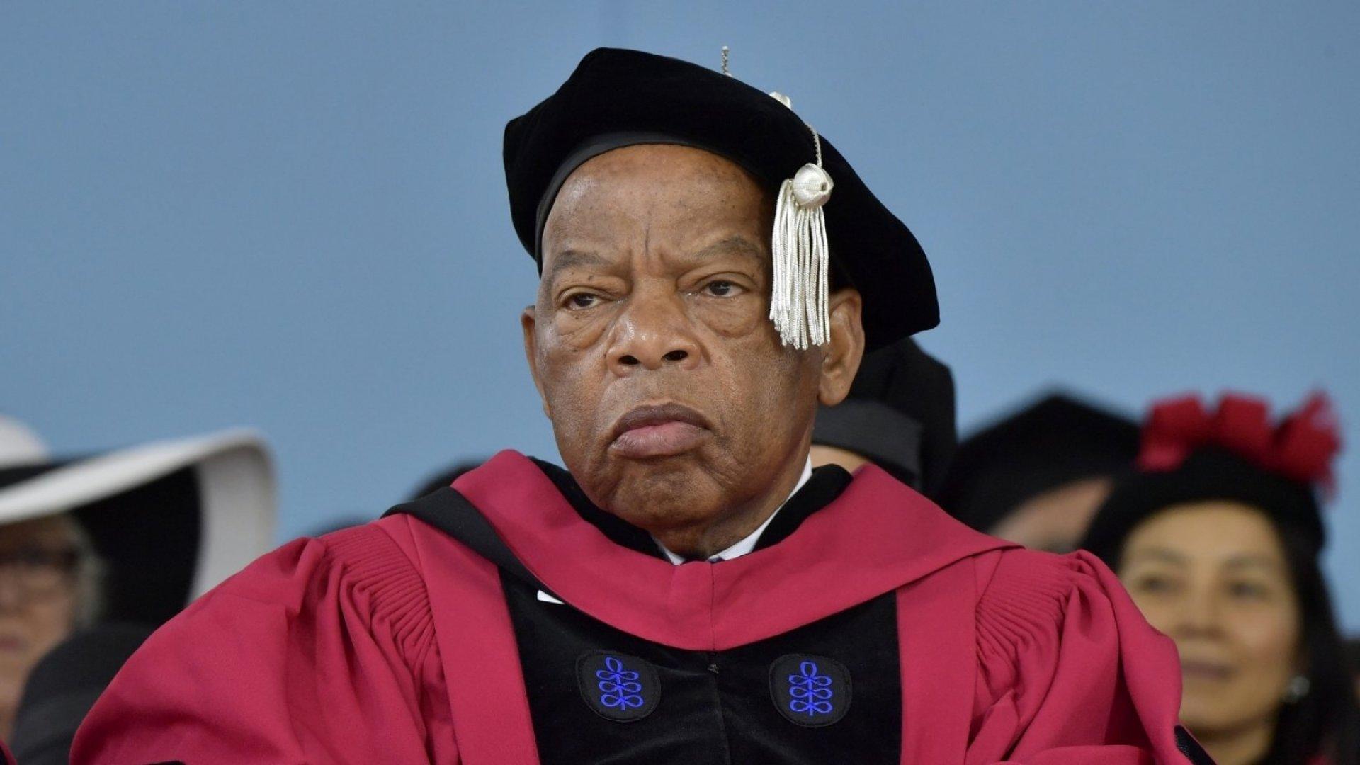Civil Rights Icon John Lewis Tells Harvard Graduates to Save the World
