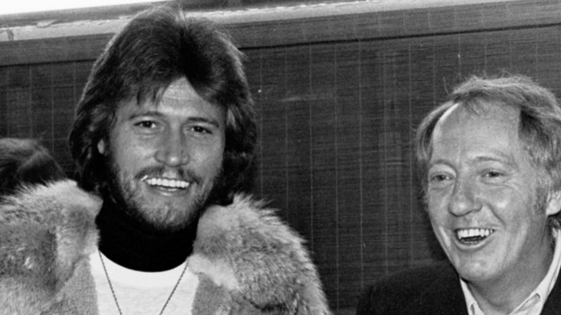 From left: Barry Gibb of the Bee Gees and Robert Stigwood.