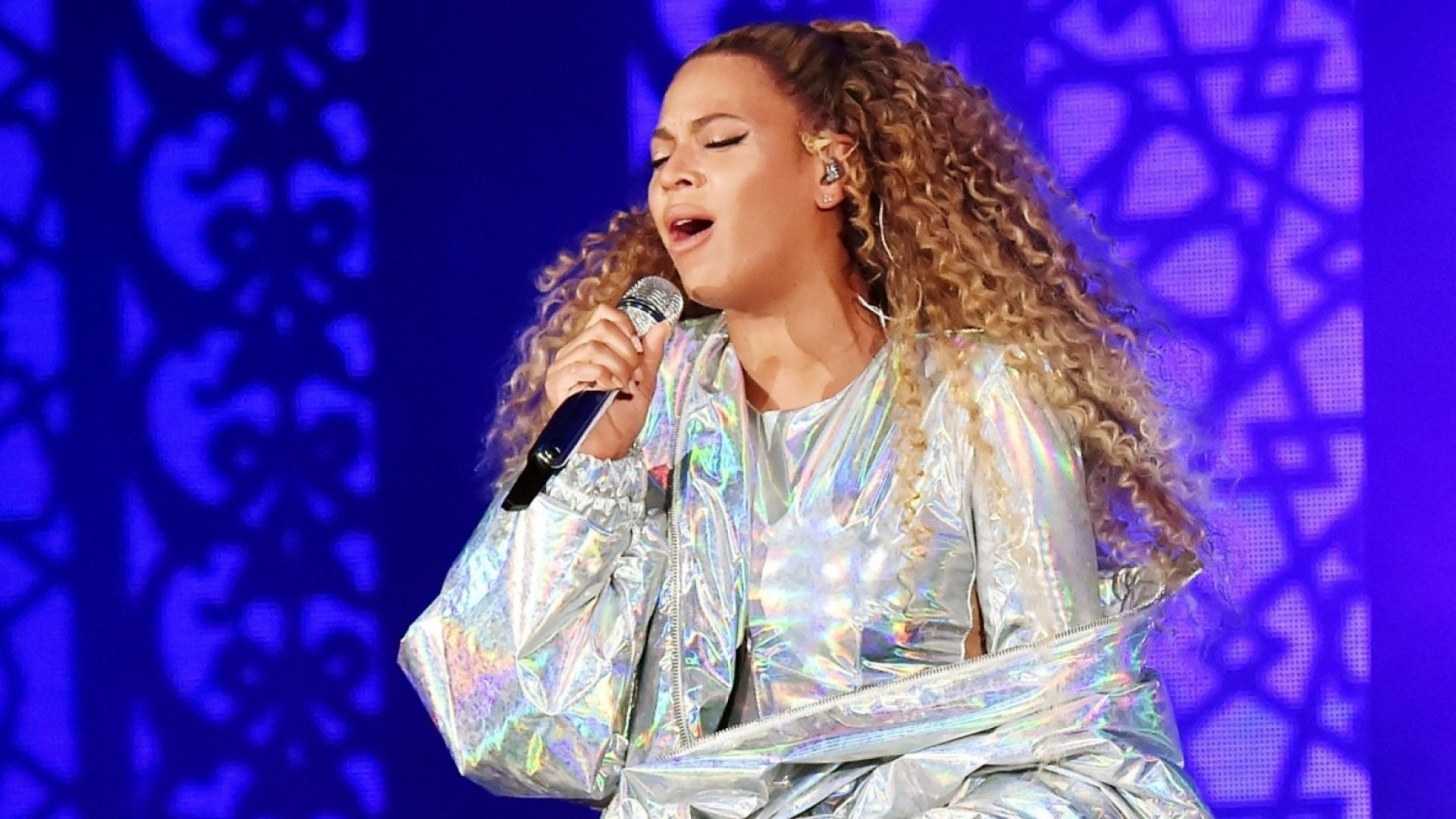 Beyonce performs on stage during the 'On the Run II' tour opener at Principality Stadium on June 6, 2018