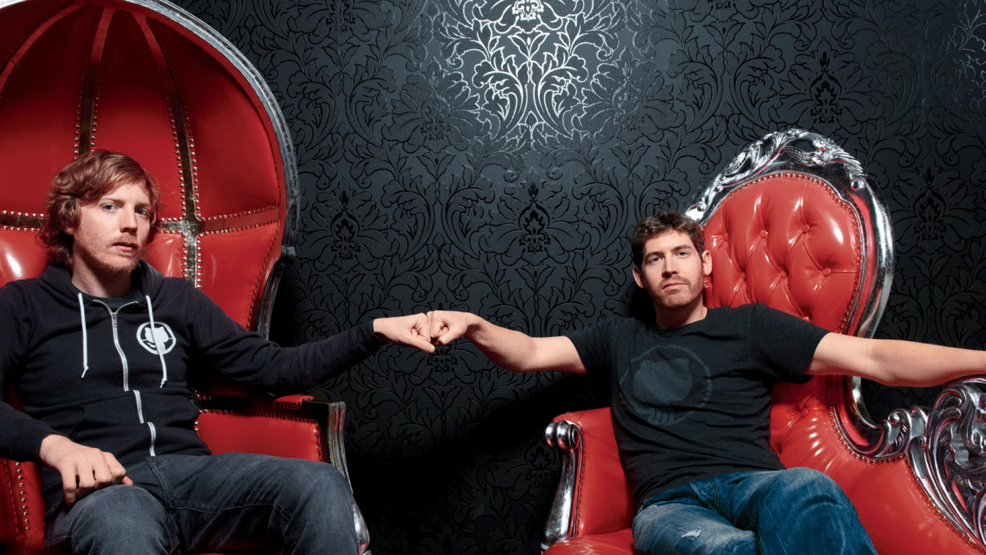 <b>Fork, Yeah</b> Chris Wanstrath (left) and Tom Preston-Werner. Their little side project is now worth $750 million.