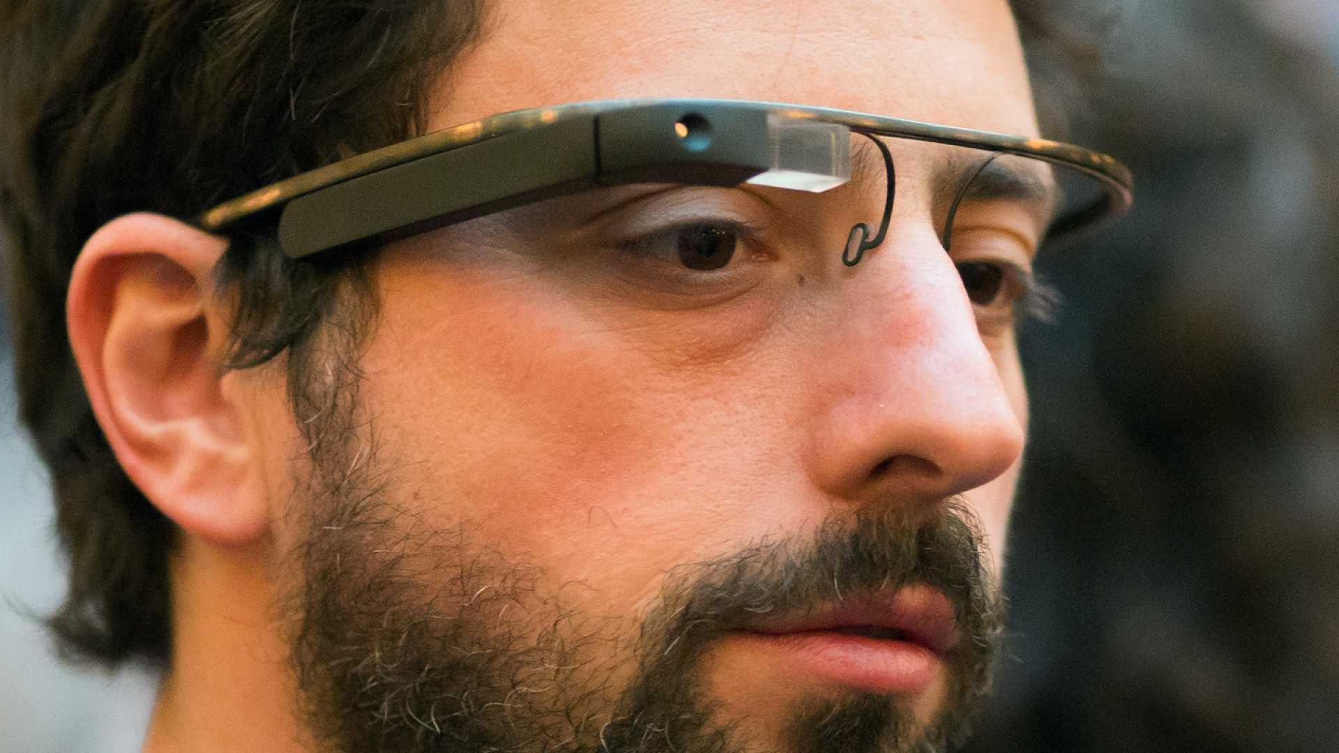 Google Co-Founder Sergey Brin sports the new Google Glasses at a benefit for the foundation Fighting Blindness in San Francisco, CA.