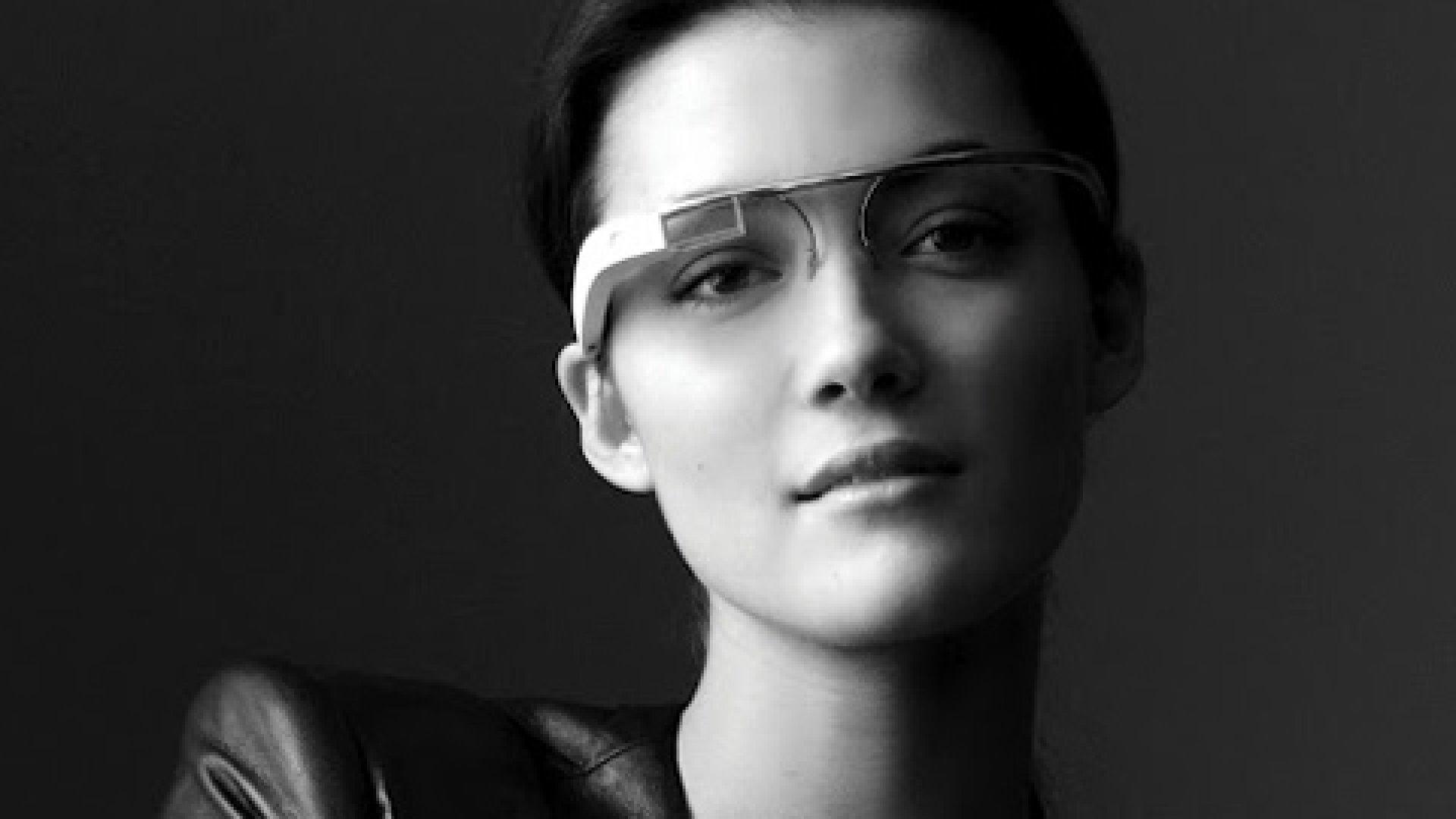 Google's prototype for reality-augmented eyeglasses.