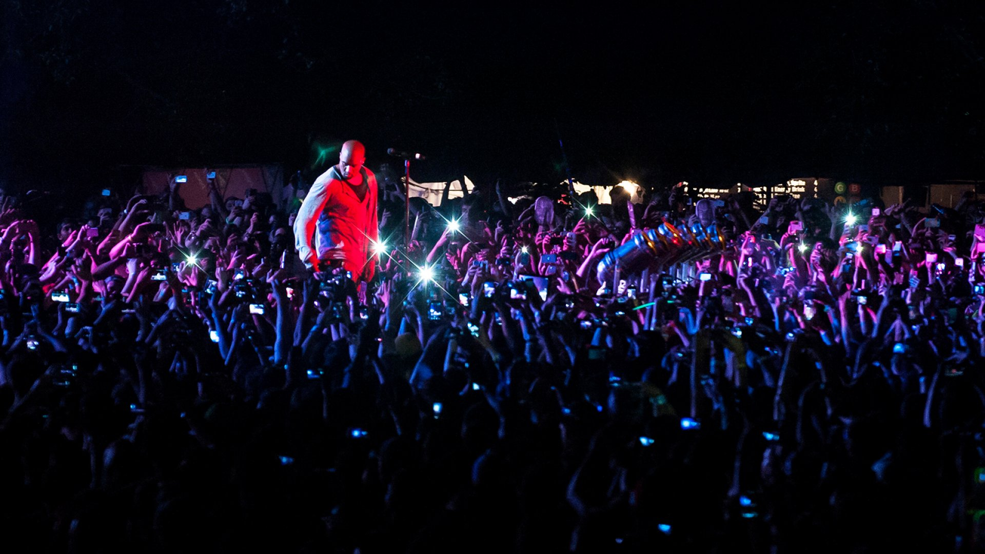 Although it was nearly washed out in 2013, the Governors Ball Music Festival now draws 50,000 people per day–150,000 for the weekend–with acts such as Kanye West (above), the Strokes, the Black Keys, Guns n' Roses, Outkast, Drake, Kings of Leon, and the Killers.