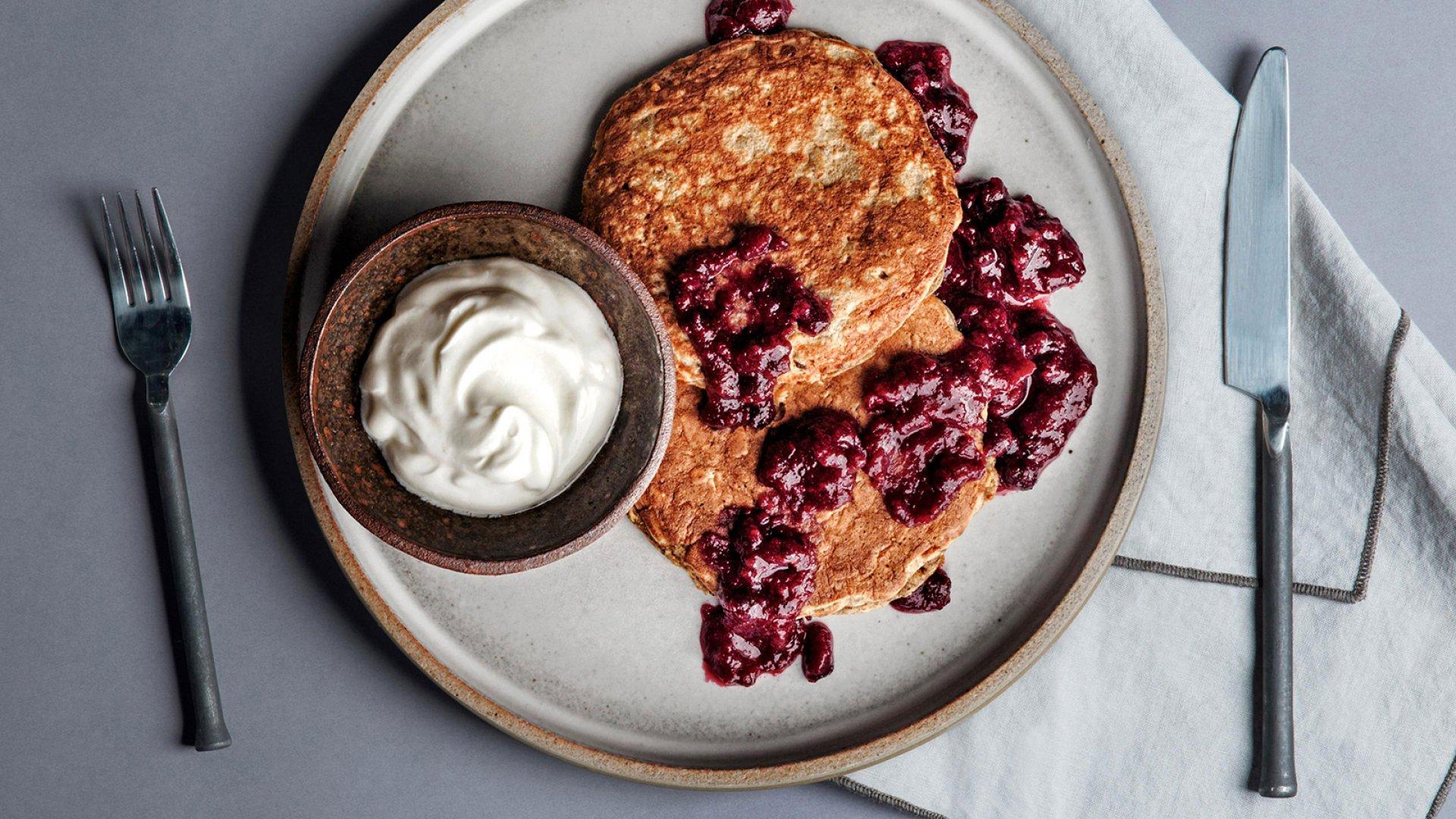 Habit's whole wheat pancakes.