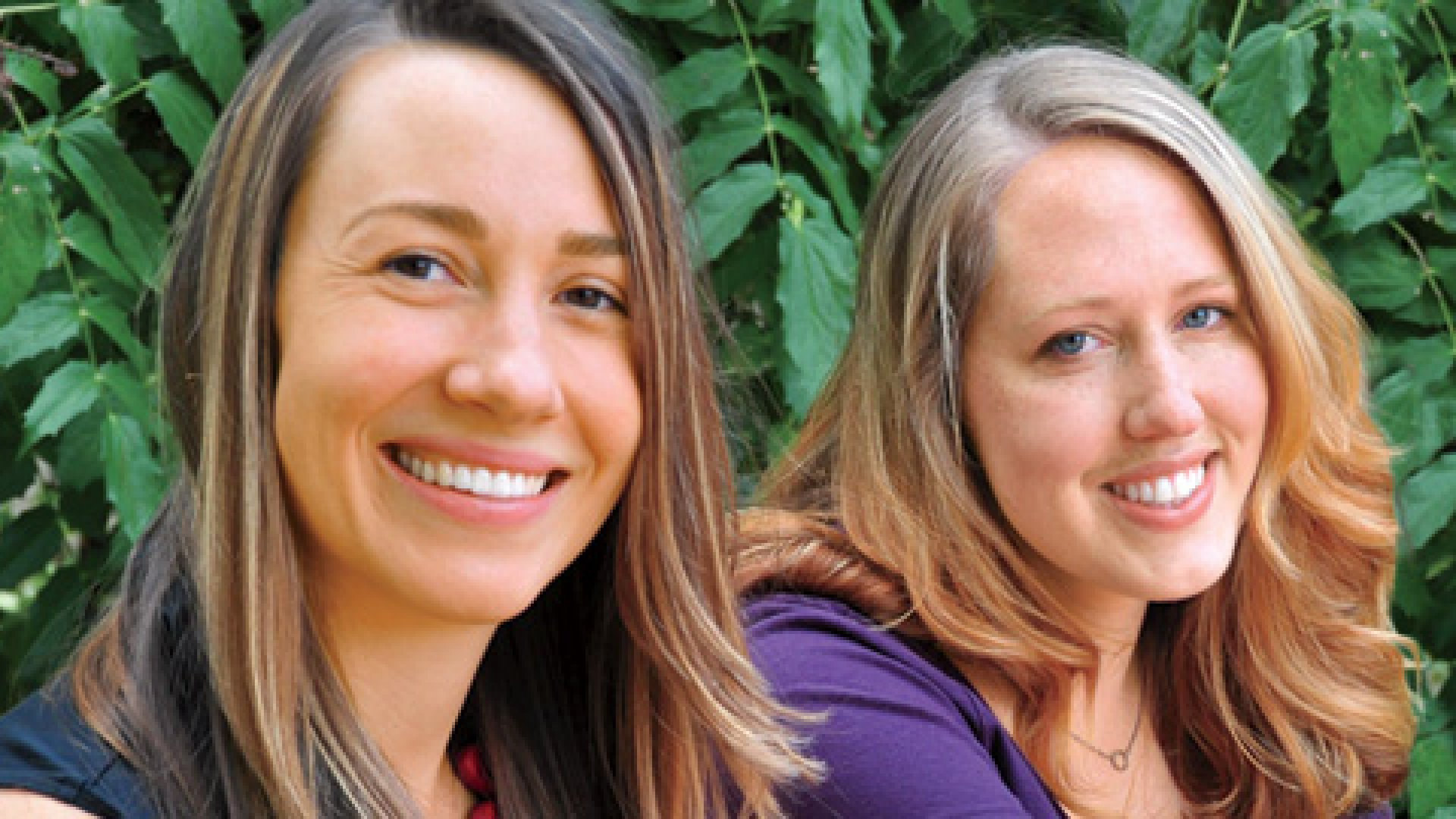 <strong>Stress Relievers:</strong> WeddingLovely co-founders Julia Grace (left) and Tracy Osborn.