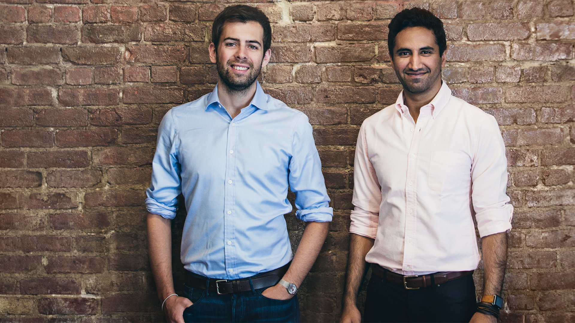 Handy co-founders Oisin Hanrahan, CEO (left), and Umang Dua, COO, in their New York City headquarters, are faced with the daunting task of figuring out how to build a profitable company, and keep investors happy, in a world where growth is no longer the most crucial metric for startups.