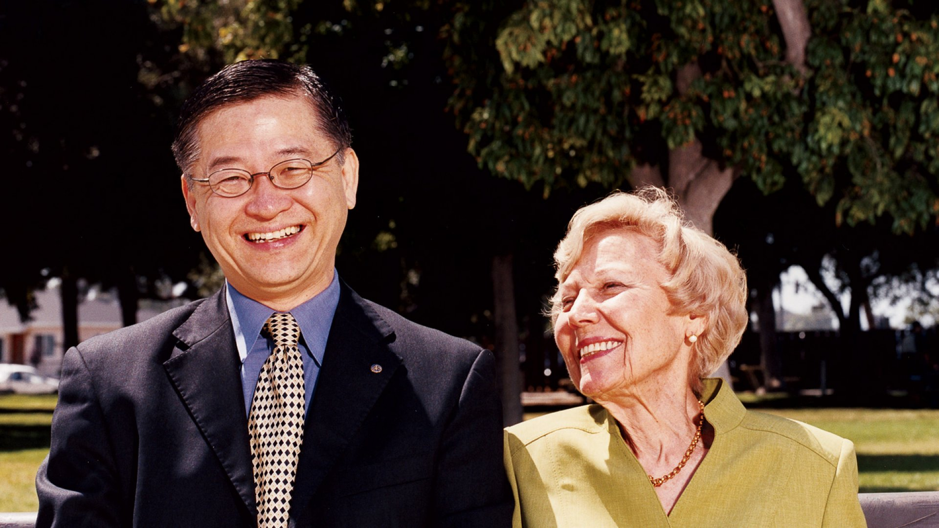 FELLOW TRAVELERS Chris Chen's all-american success story wouldn't have been possible without Helene DeGroodt and her late husband, Franklin.