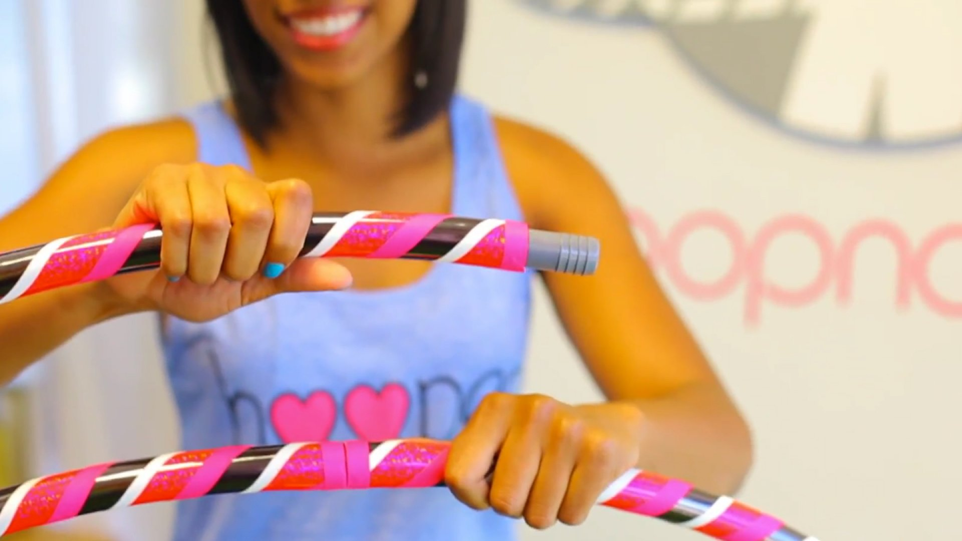 Hoopnotica's travel hula-hoop--it breaks into six segments for packing--is a hit with copycats.