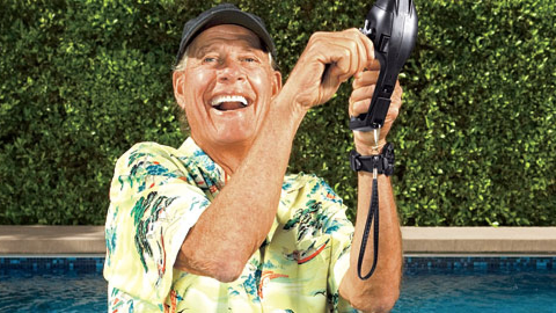 <strong>THE PITCHMAN</strong> Ron Popeil with his Pocket Fisherman. A great product, he believes, deserves a brilliant infomercial.