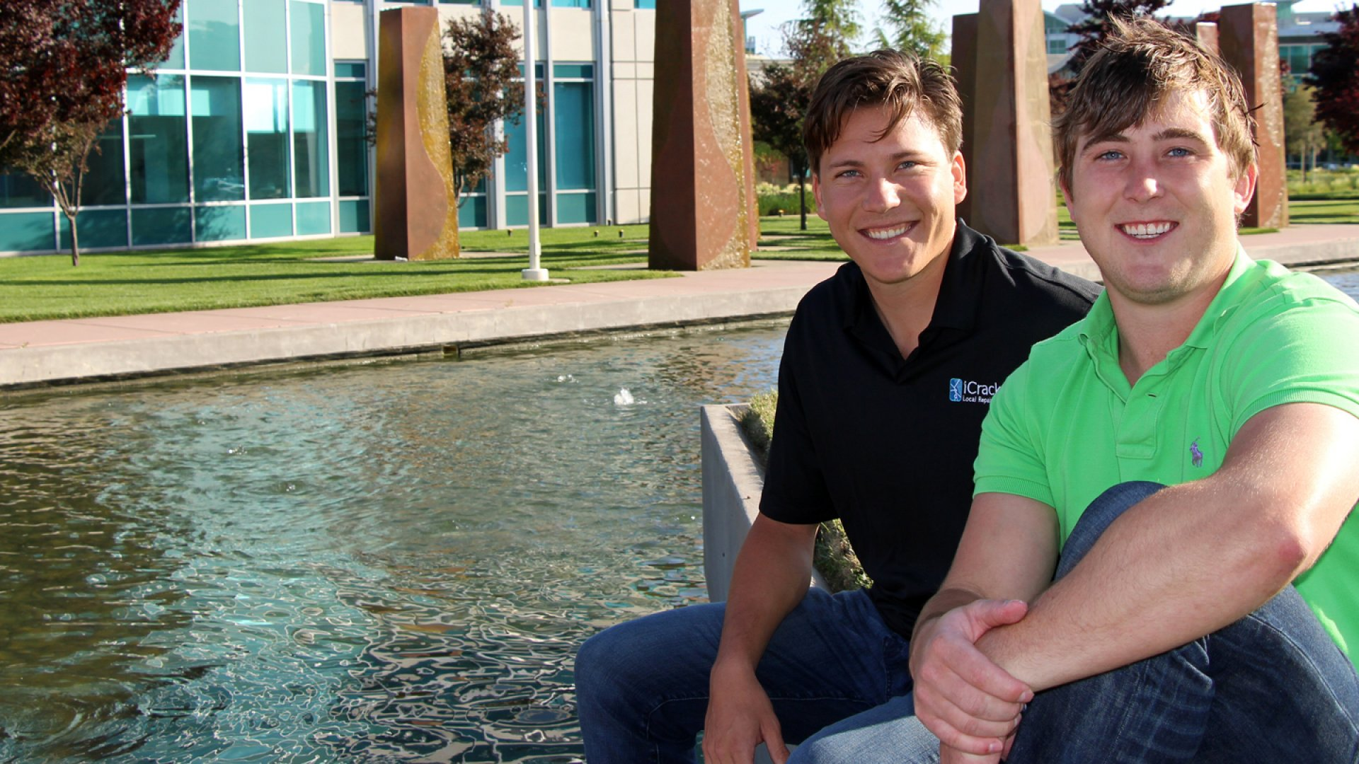 iCracked founders Anthony Martin (left) and A.J. Forsythe.