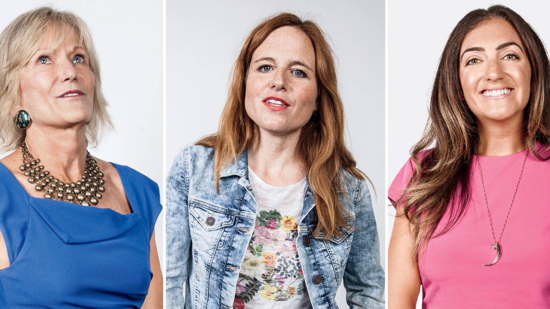 Kay Koplovitz (L), Lexy Funk, Jennifer Hyman (R)