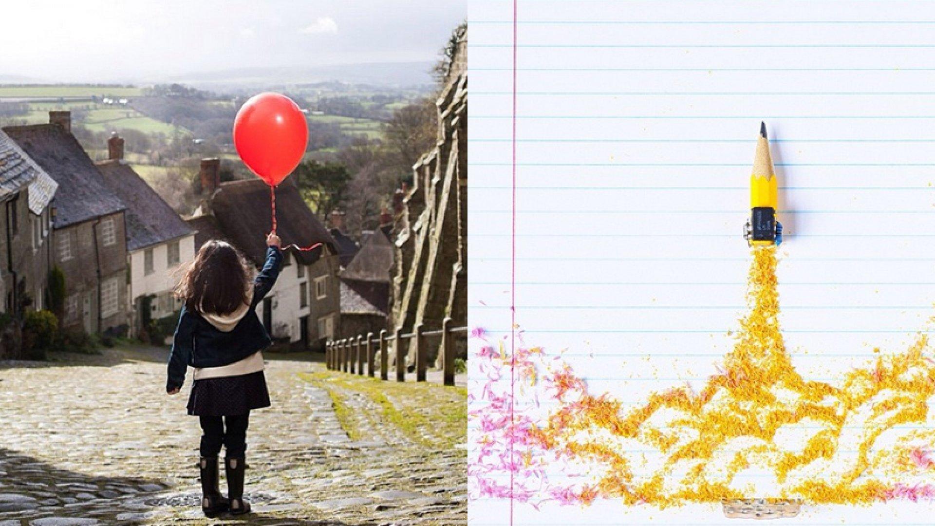 Left: Instagram image by Marte Forsberg for Gap Kids; right: Instagram image by David Schwen for General Electric. <br> <br>