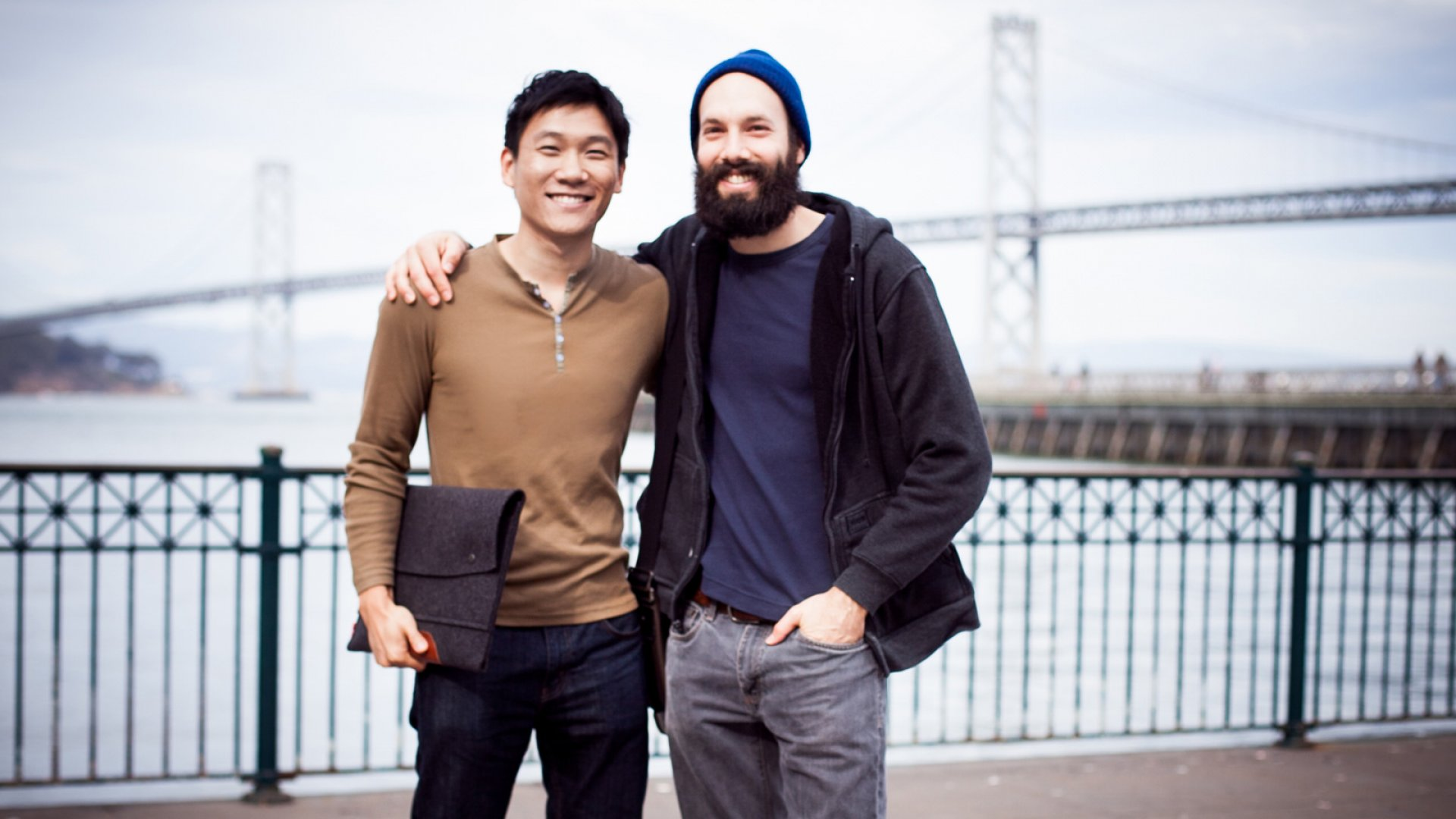 """Sam Yam (left) and Jack Conte (right) launched a subscription service that enables supporters to automate pledges each month. """"We just started seeing immediate traction,"""" Conte says, """"especially from the YouTube community."""" <br> <br>"""