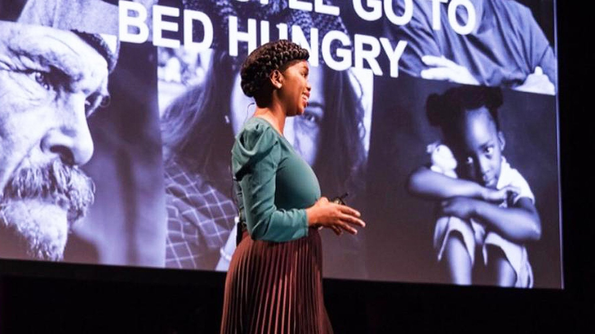 Goodr founder and CEO Jasmine Crowe gives a TED Talk.