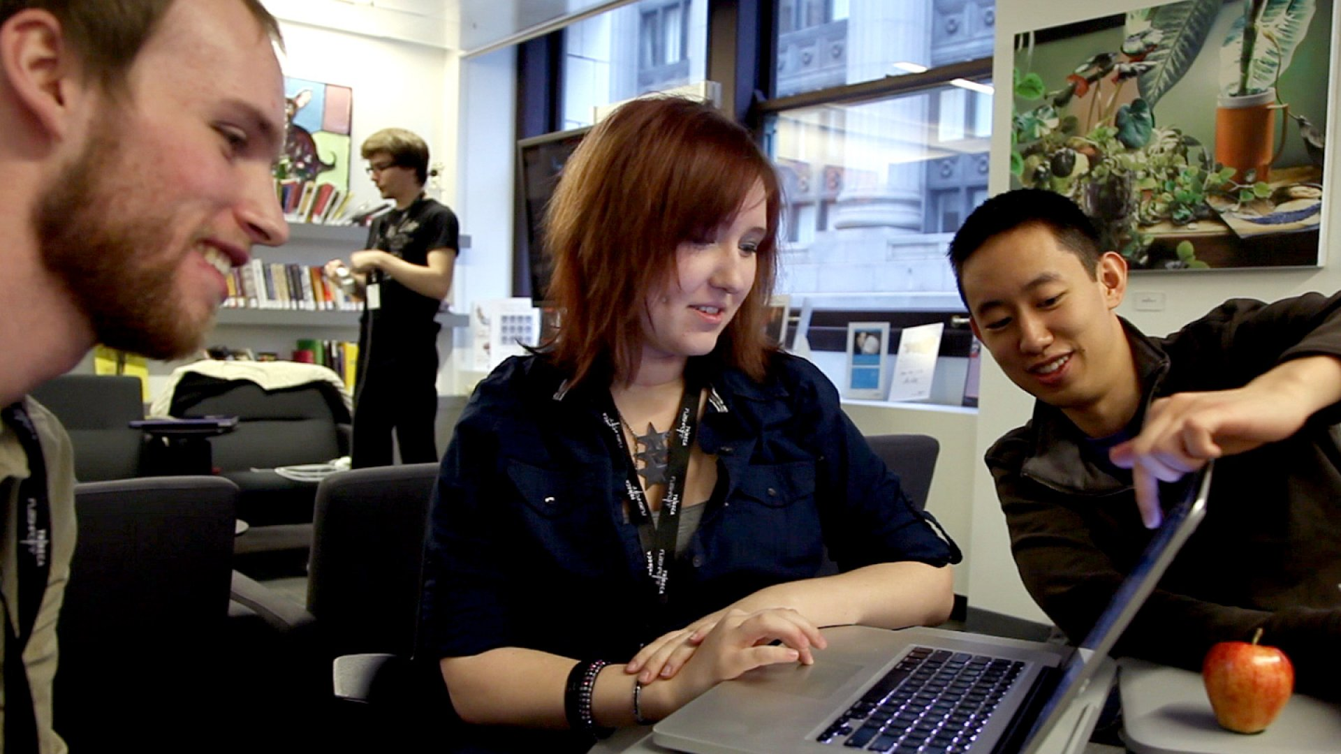 JiveHealth's founder Dennis Ai (right) at work.