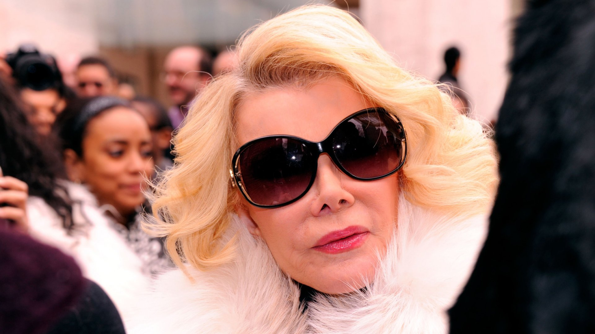 Joan Rivers is seen around Lincoln Center during Fall 2012 Mercedes-Benz Fashion Week.