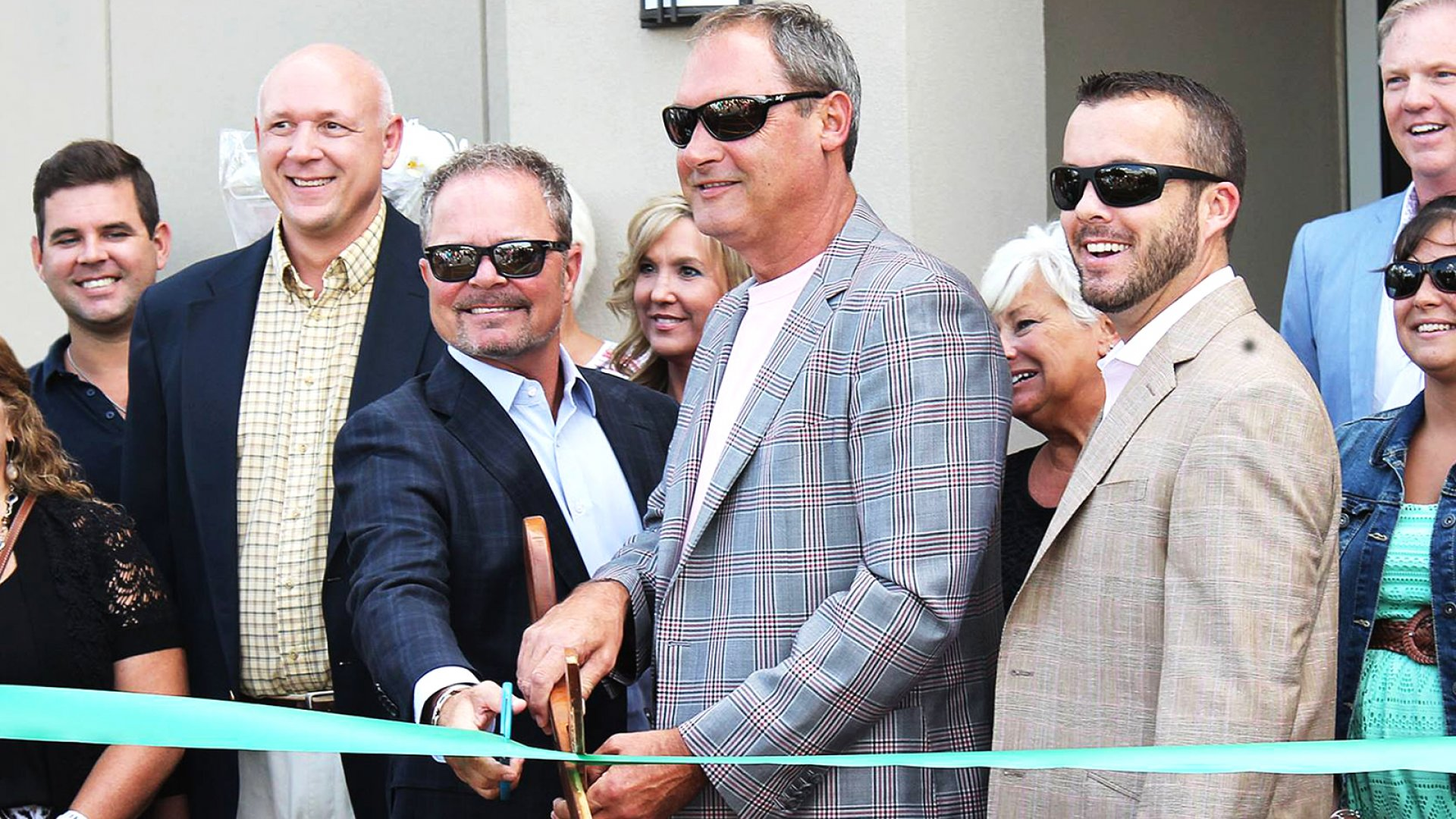 Transportation Impact founders Keith Byrd (left) and Travis Burt at Transportation Impact's ribbon cutting.