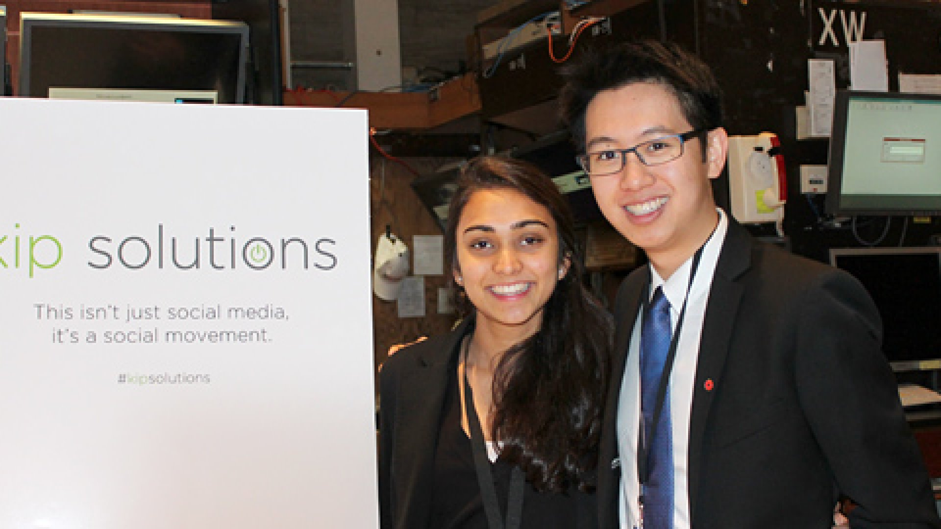 """Co-founders Patrick Ip (pictured), Kavya Shankar and Sonia Chokshi (pictured) sought to answer the question, """"How can we use social media to really make a difference?"""""""