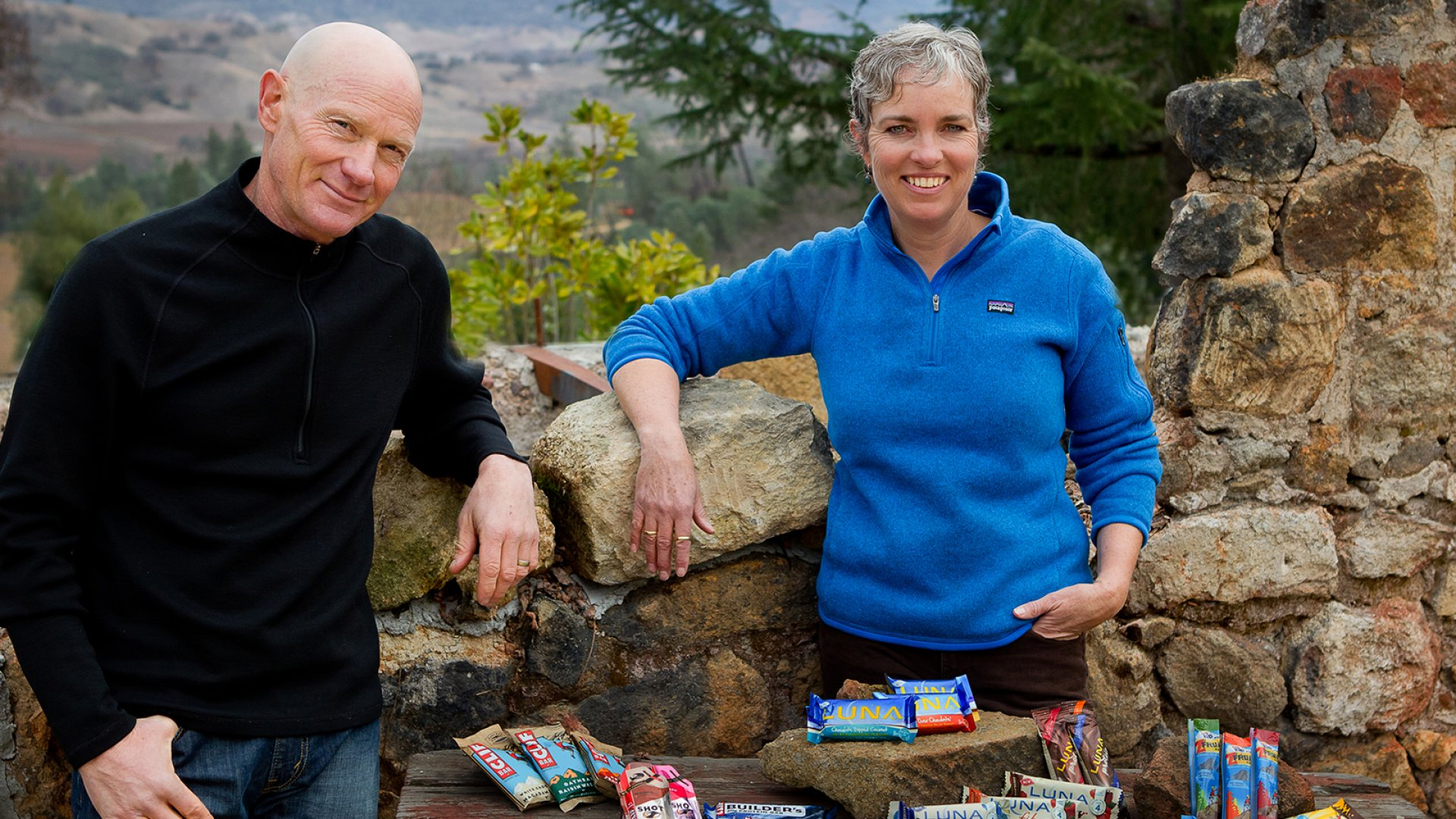 Clif Bar founder Gary Erickson (left) with his business partner and wife Kit Crawford.