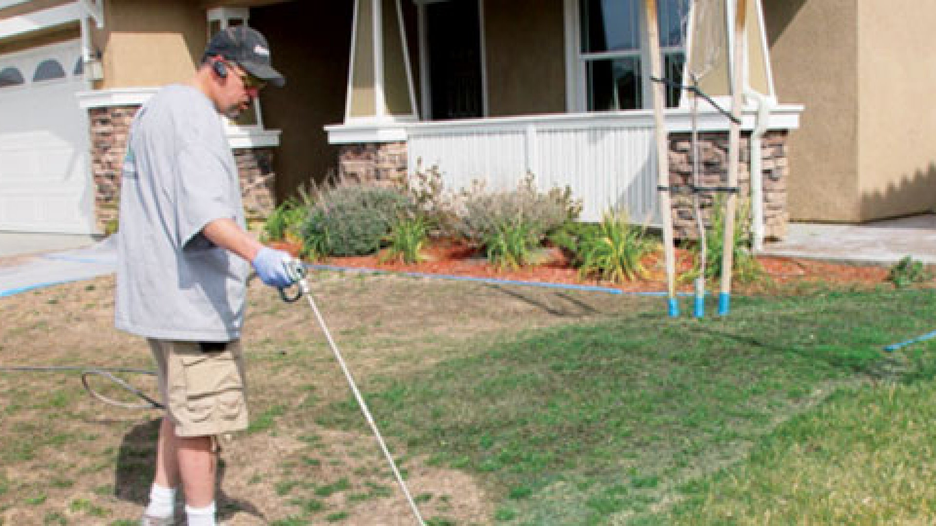 Lawn Painting on Foreclosed Homes