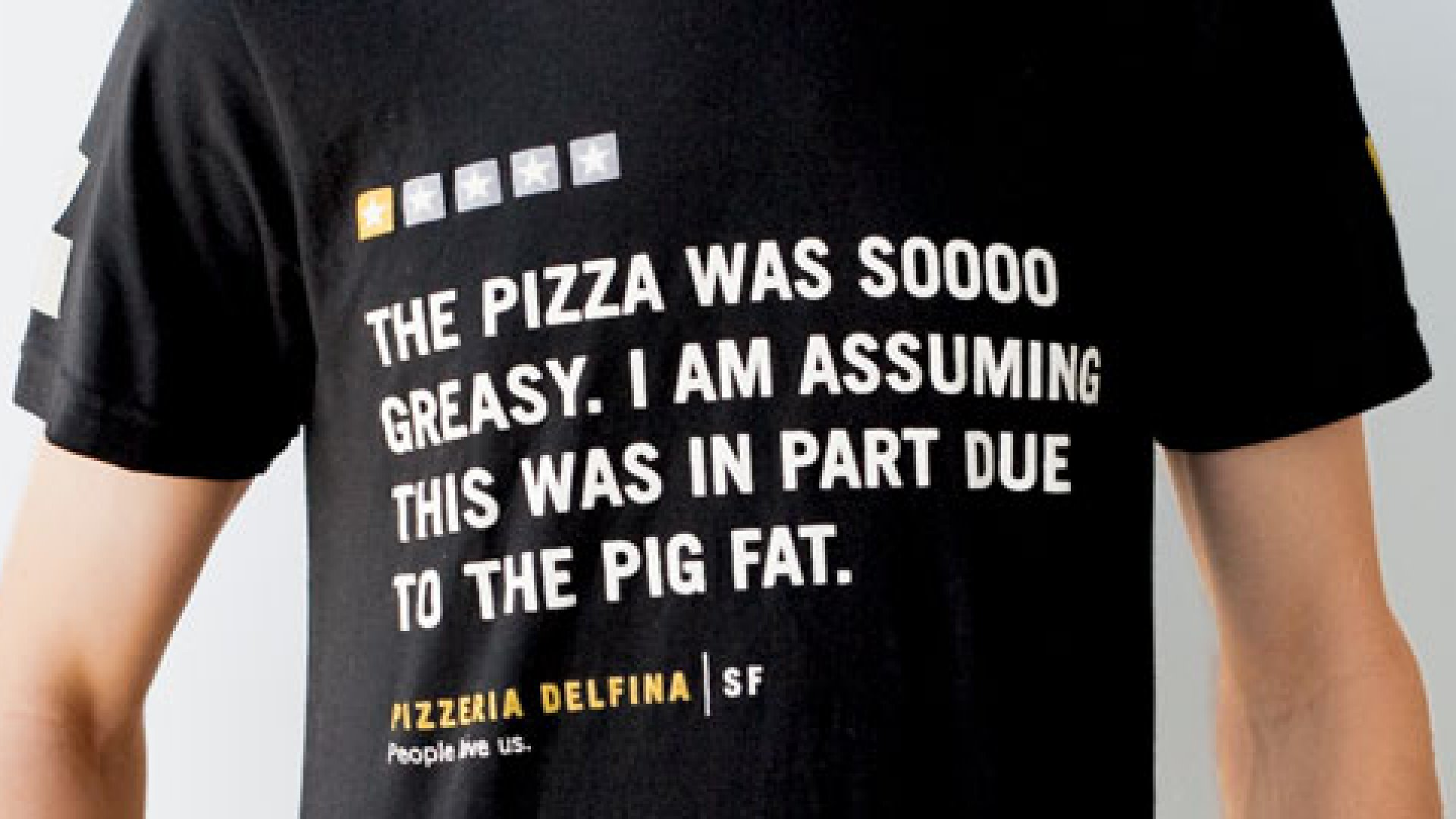 <strong>RIGHT BACK AT YOU</strong> Pizzeria Delfi na isn't cowed by nasty reviews.