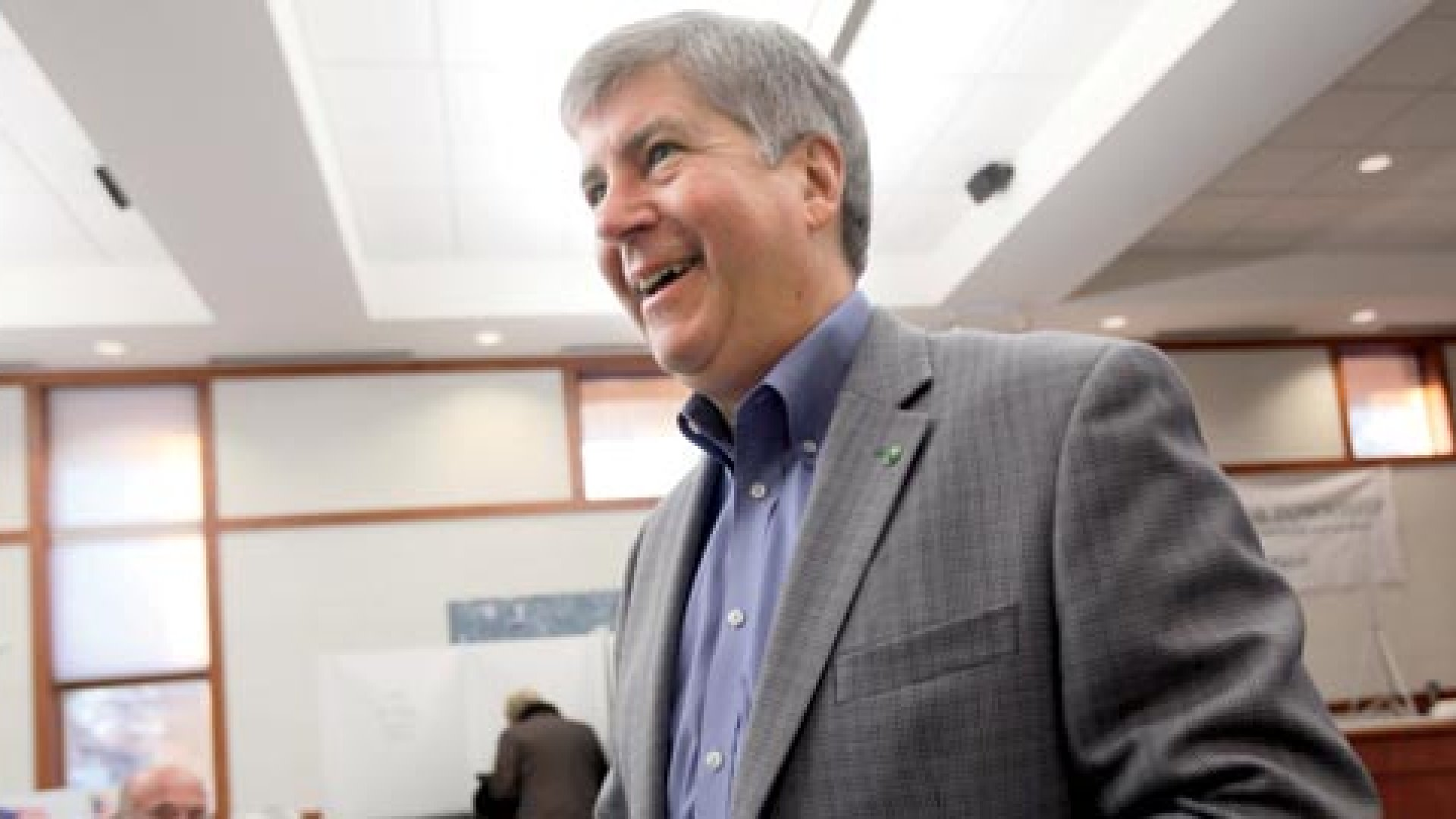 <b>Aiming to Please </b>Michigan Governor Rick Snyder vows to bring business notions of customer service to state government.