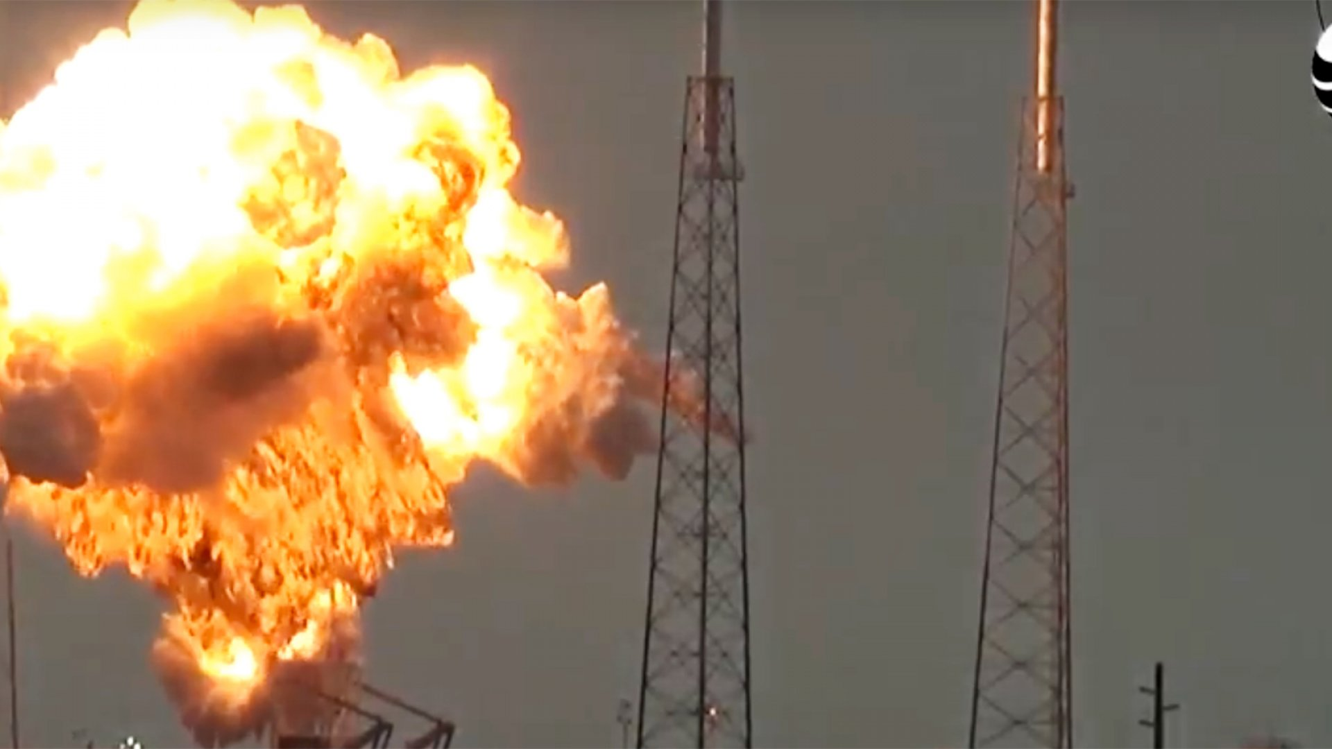 A video captures the explosion of SpaceX's Falcon 9 on Sept. 1, 2016. The ship was undergoing a preliminary static fire test.