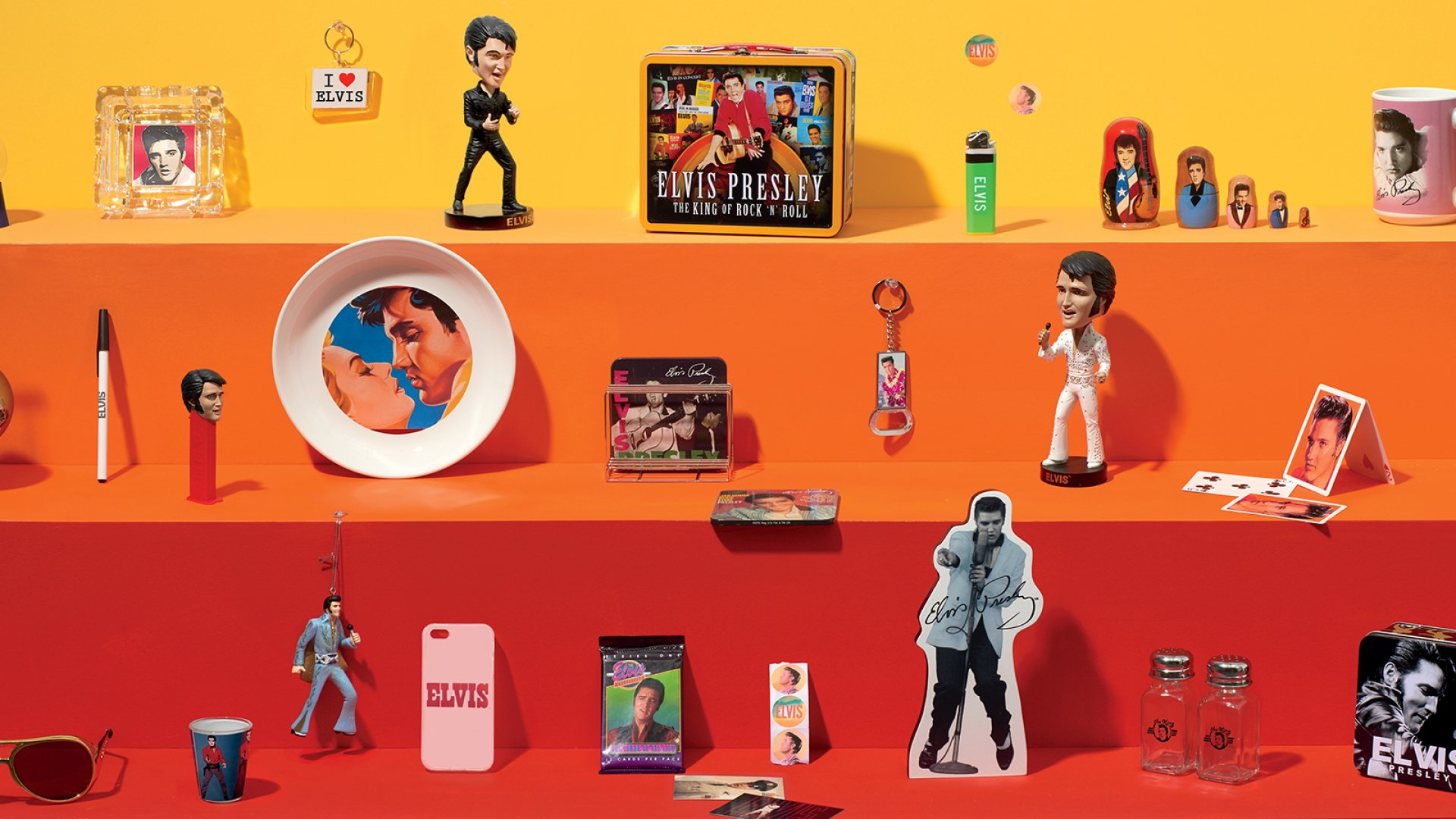 Elvis trinkets may seem ubiquitous, but his image is tightly controlled by Elvis Presley Enterprises, which manages IP for the Elvis Presley Trust.