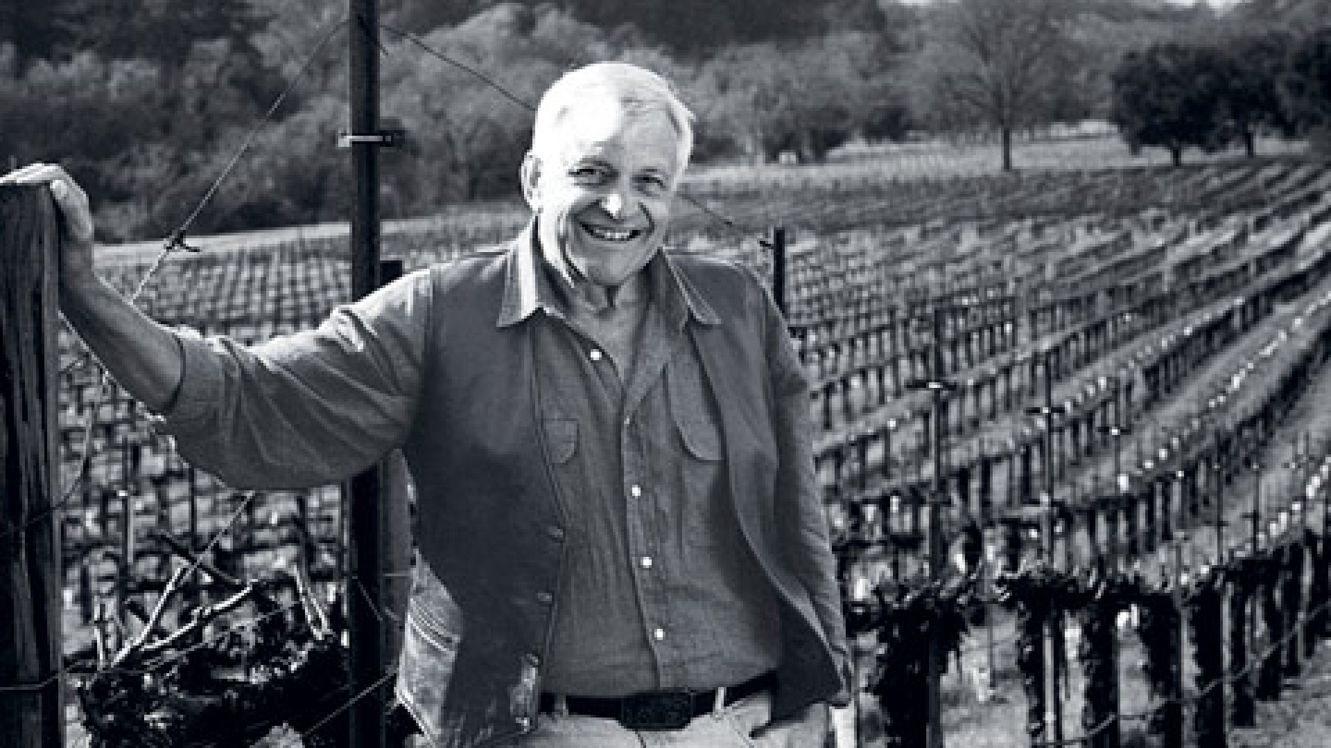 <b>Grounded</b> Jess Stonestreet Jackson in one of his vineyards, in the early 1990s