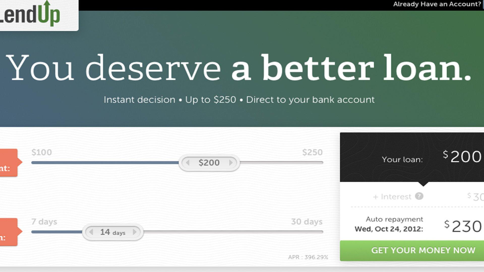 Big-Time Backers Boost Lending Start-up LendUp