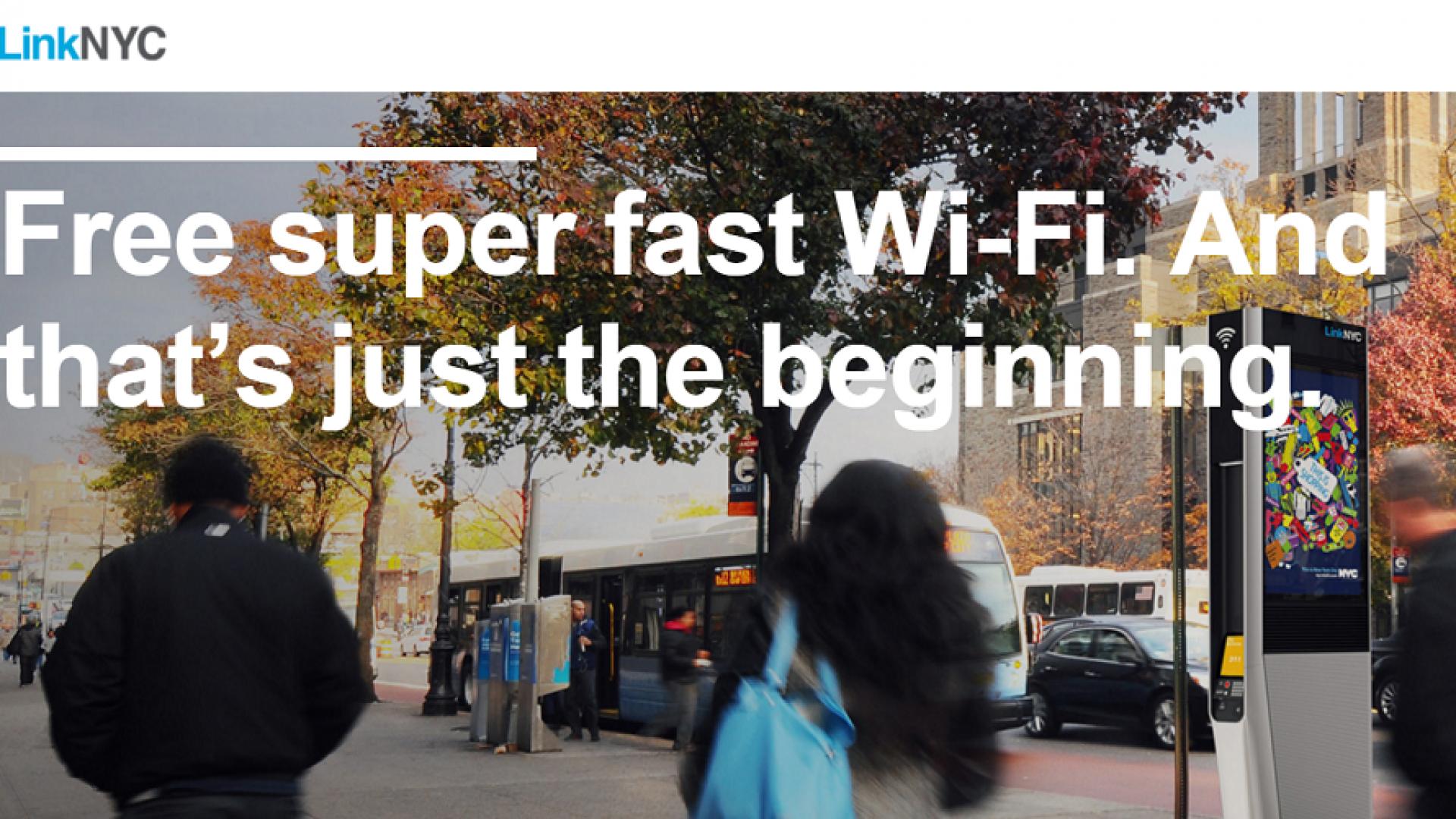 Screenshot of LinkNYC website