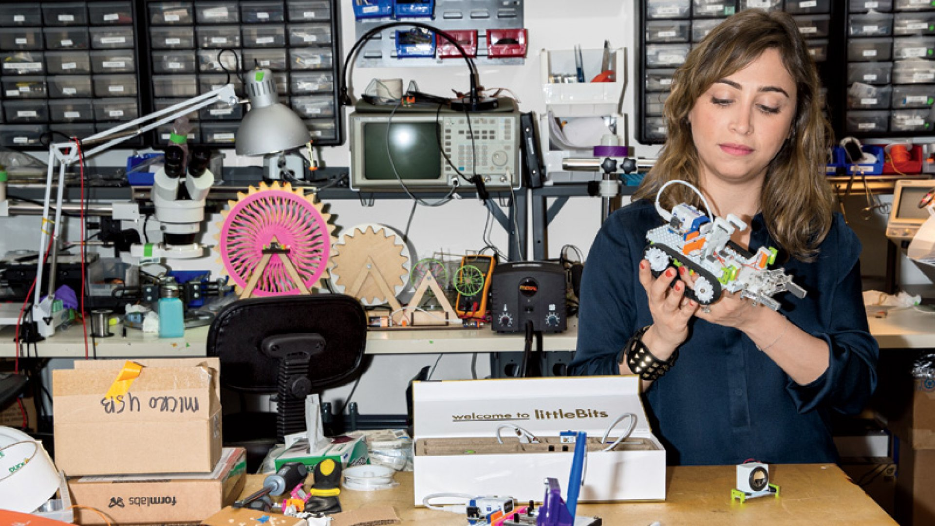 Ayah Bdeir is an interactive artist who was educated as an engineer before founding LittleBits, the modular-electronics company she now runs in New York City.