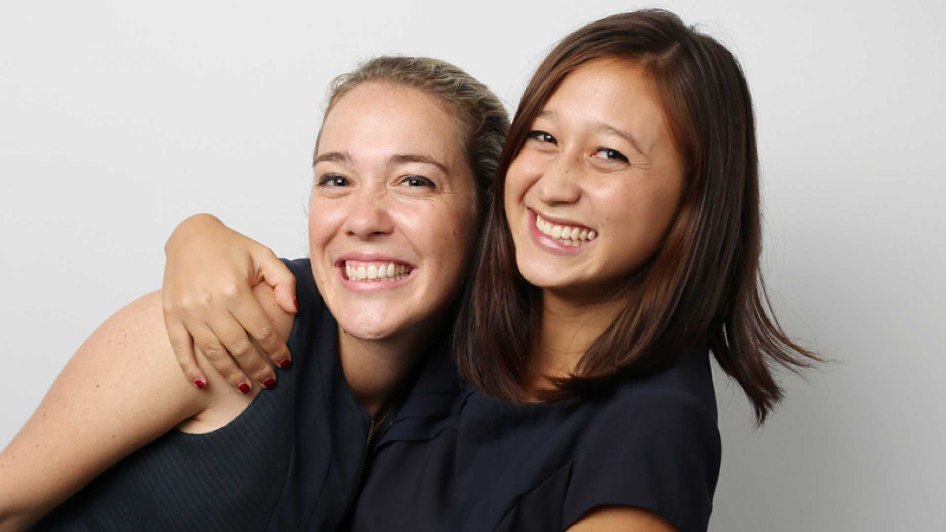 Renee Robbie (right) and Giorgia Rossi (left) became fast friends as consultants in McKinsey's Australian office. Today they are the co-founders of LookBooker, a startup that helps consumers book salon and spa appointments.
