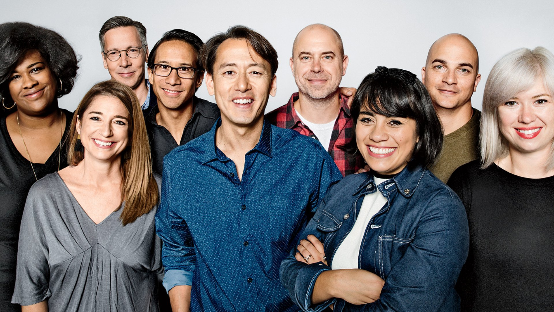 Ben Chestnut (center), Dan Kurzius (center right), and their team at MailChimp built an amazing business and became <i>Inc.</i>'s Company of the Year. It only took them 17 years.