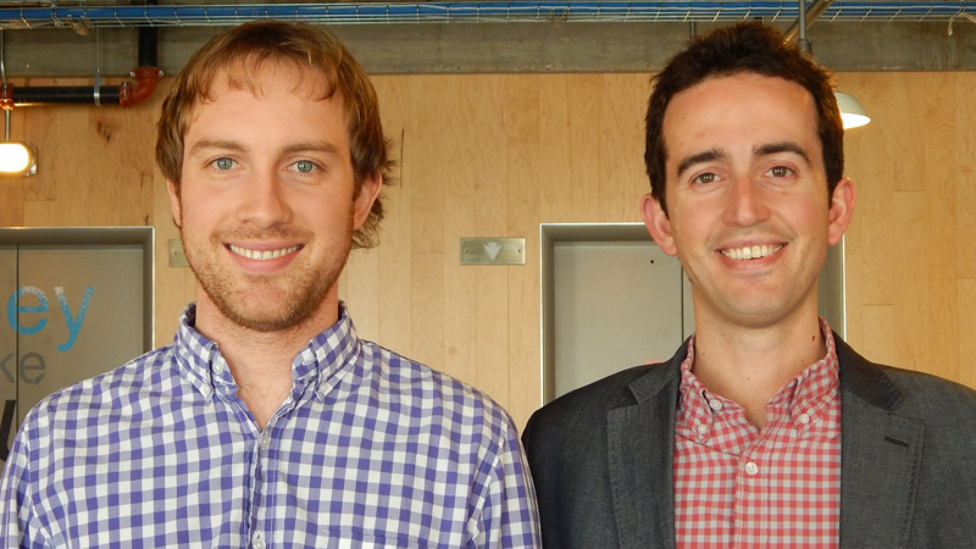 Operations optimizers: Matt Stuart (left) and Andrew Allison are building Main Street Hub with design principles typically applied to products and services.